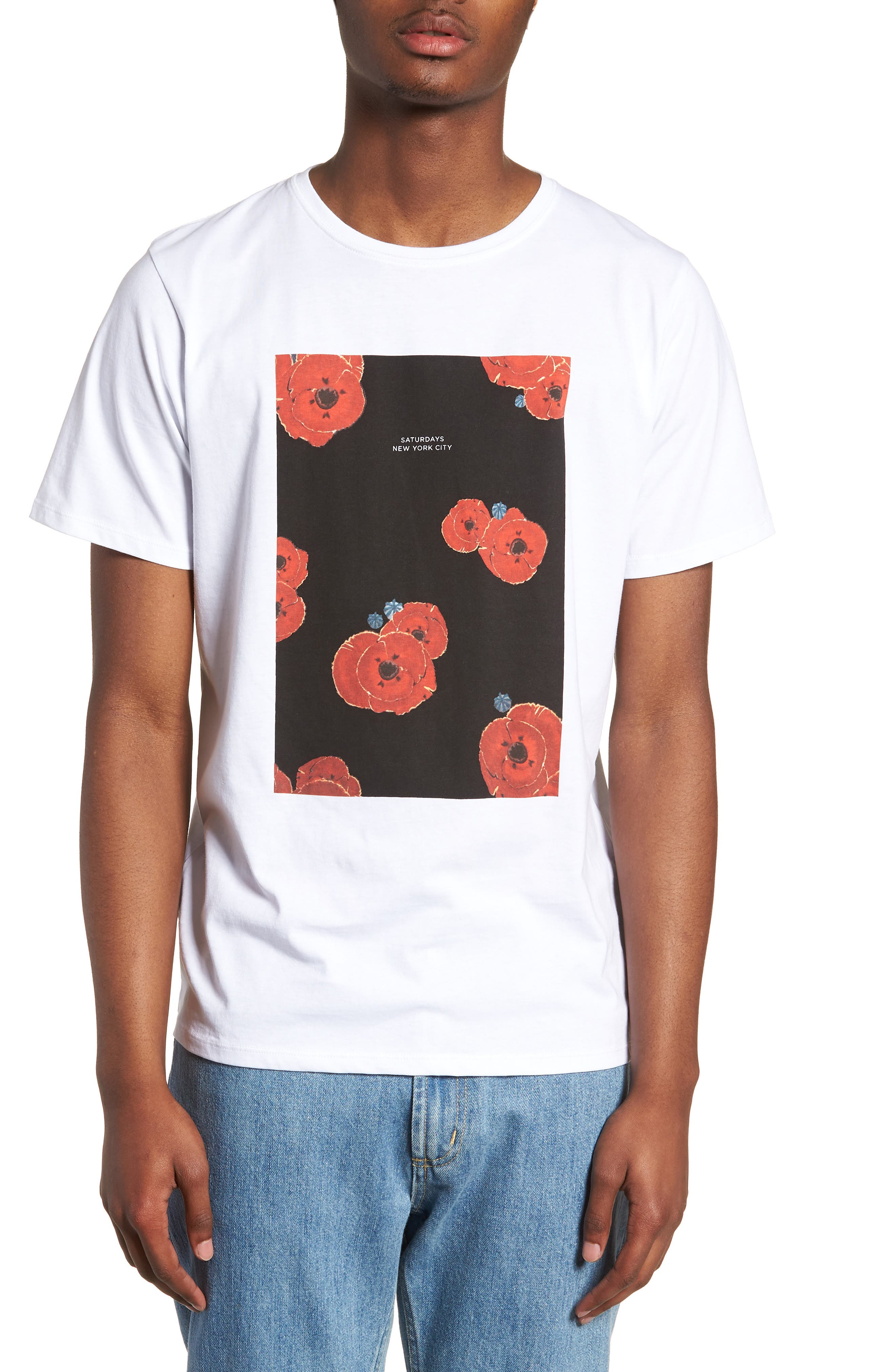 Floater Fill T-Shirt,                         Main,                         color, WHITE