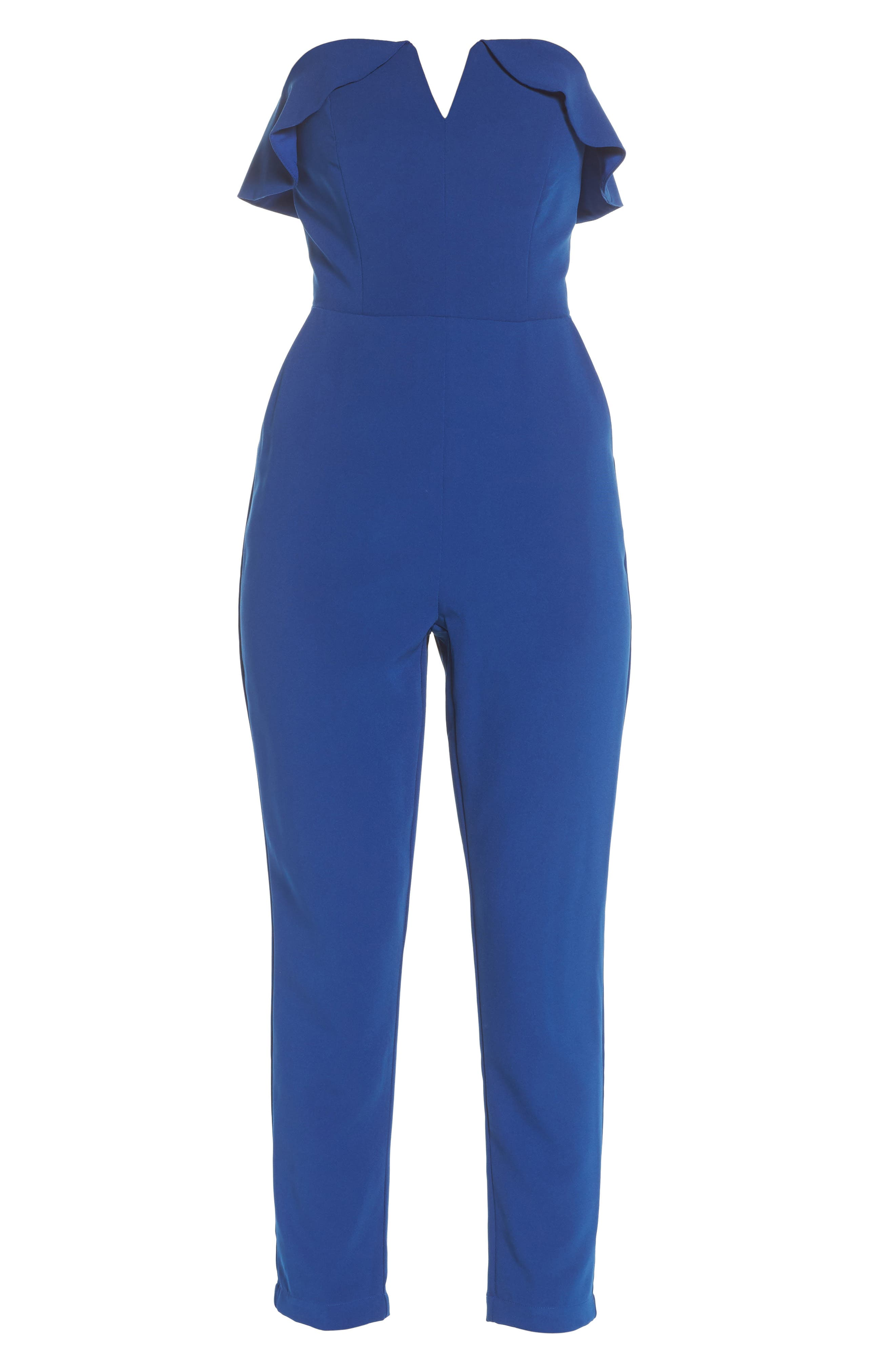 Penny Strapless Jumpsuit,                             Alternate thumbnail 6, color,                             400