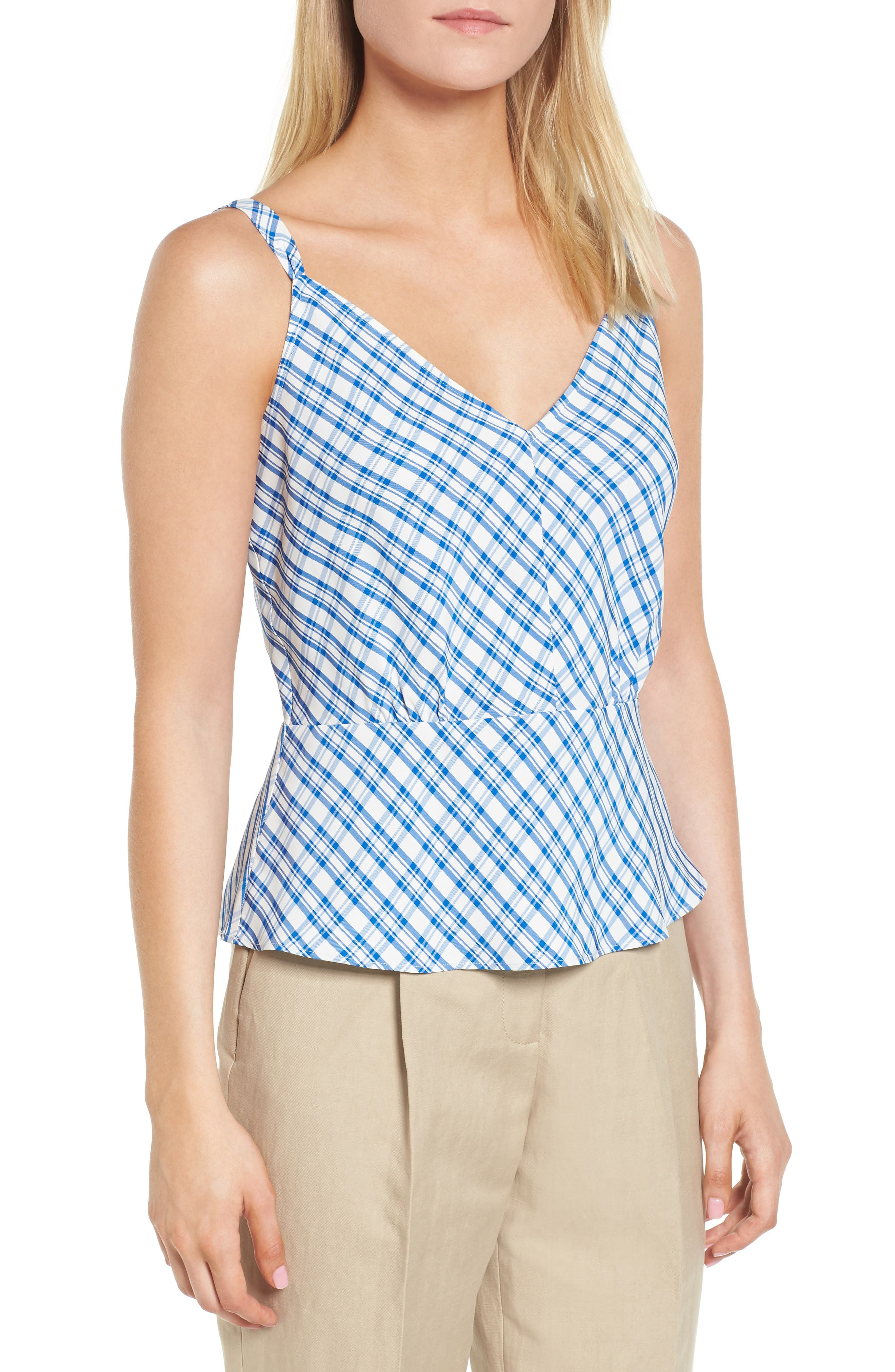 Check Plaid Camisole,                         Main,                         color, 420