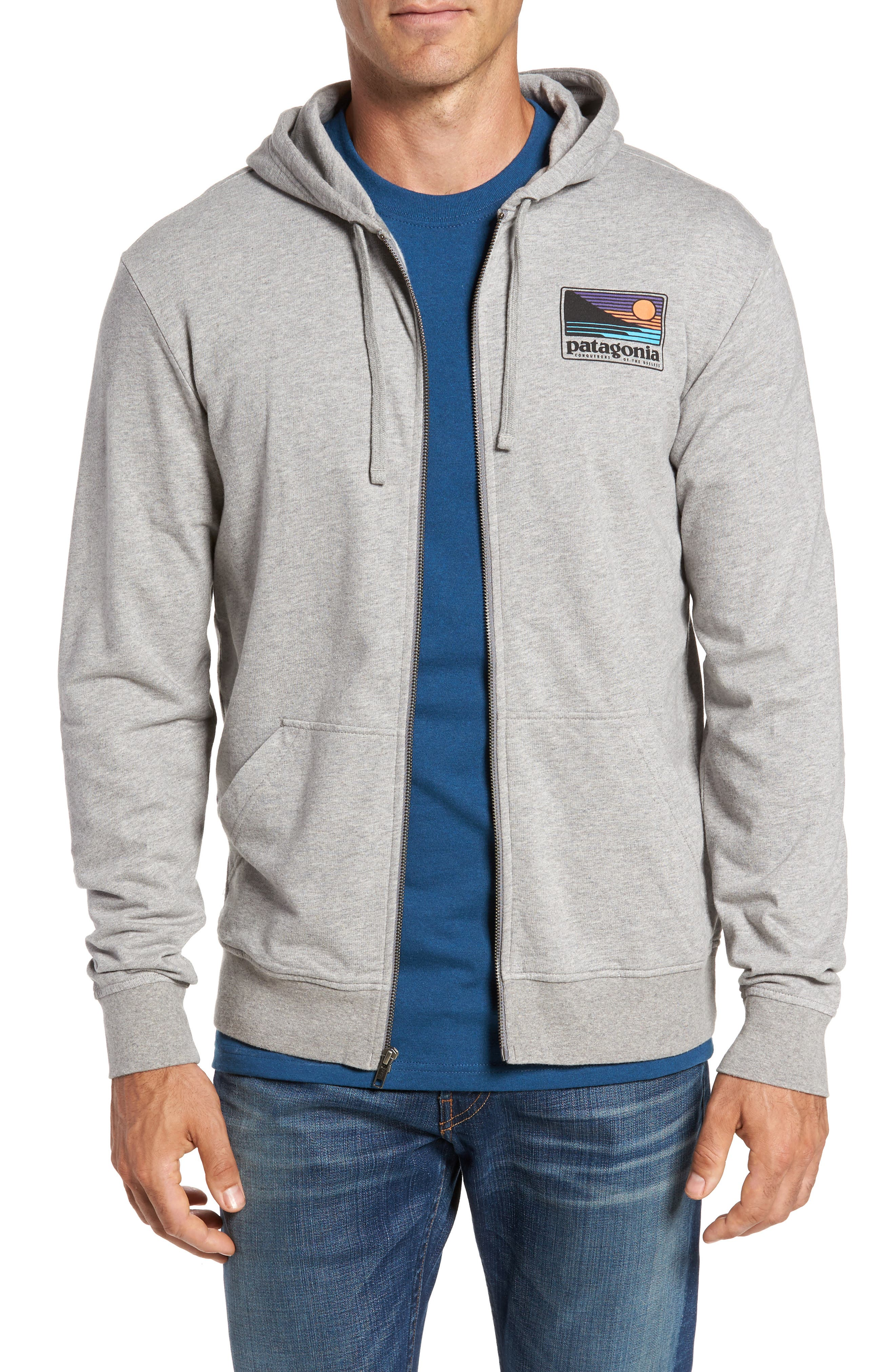 Up & Out Lightweight Zip Hoodie,                         Main,                         color, 020