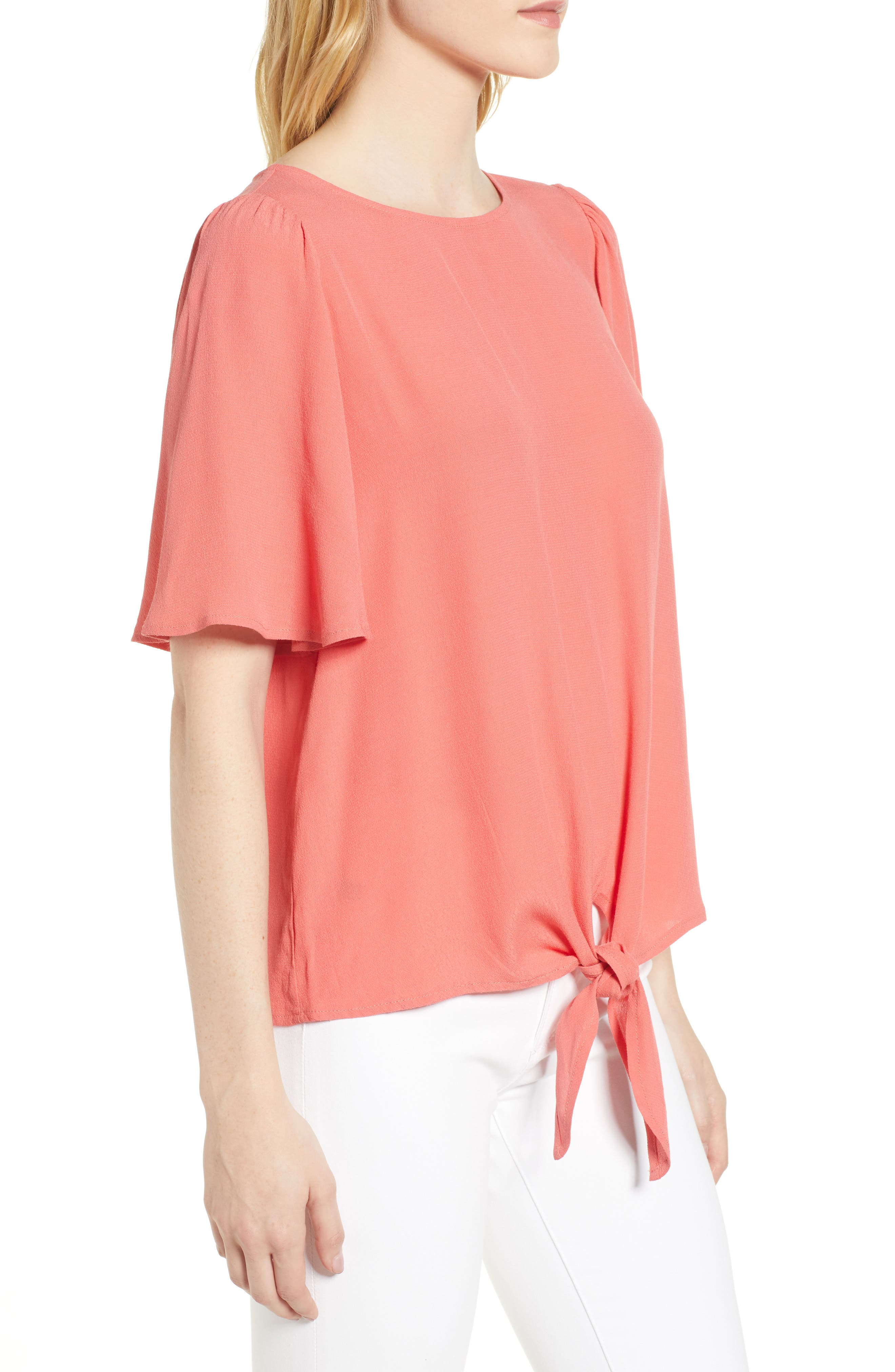 Ruffle Tie Front Top,                             Alternate thumbnail 13, color,