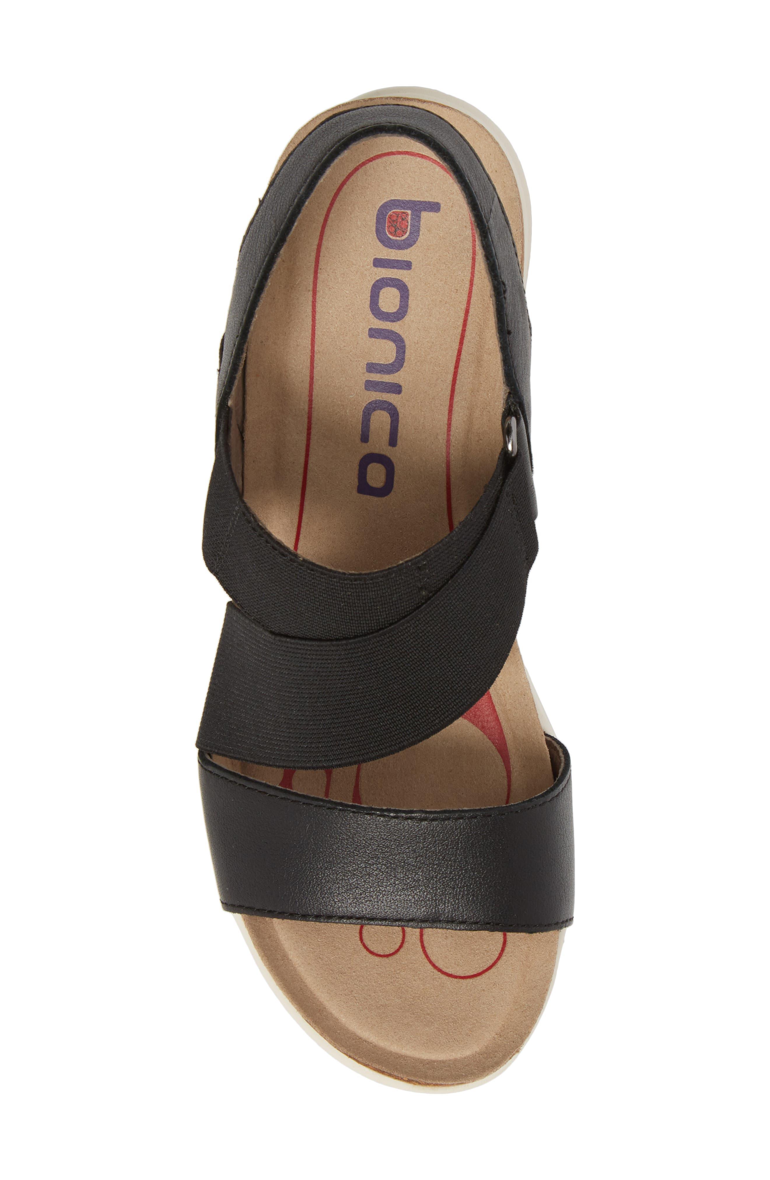 Paisley Wedge Sandal,                             Alternate thumbnail 5, color,                             001