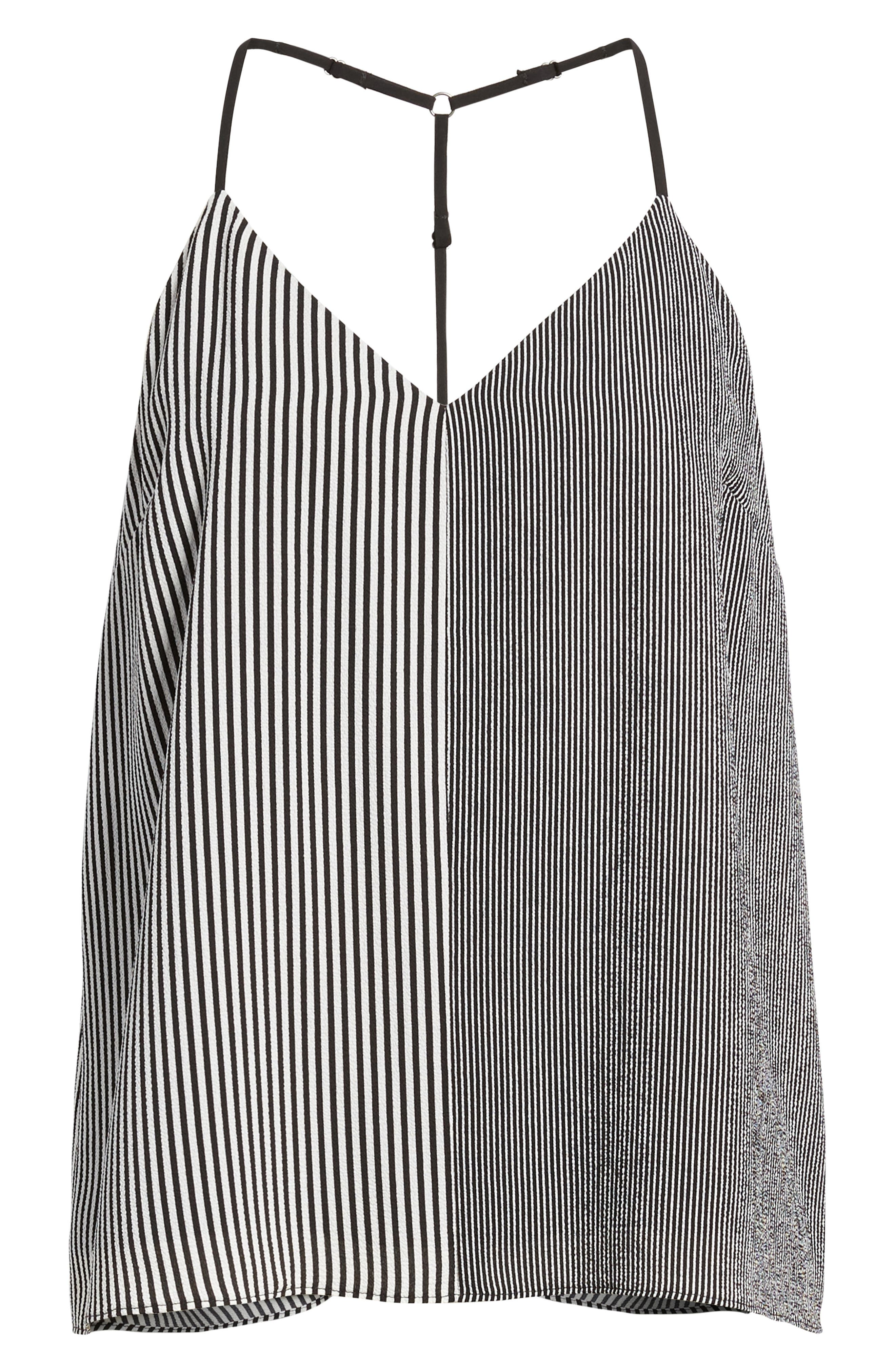 Mix Stripe Camisole,                             Alternate thumbnail 6, color,                             001