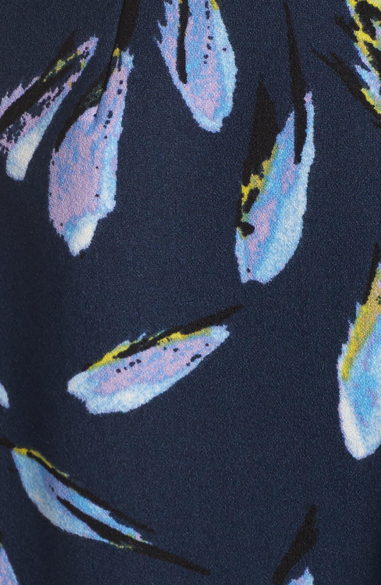 Print Fit & Flare Dress,                             Alternate thumbnail 5, color,                             410