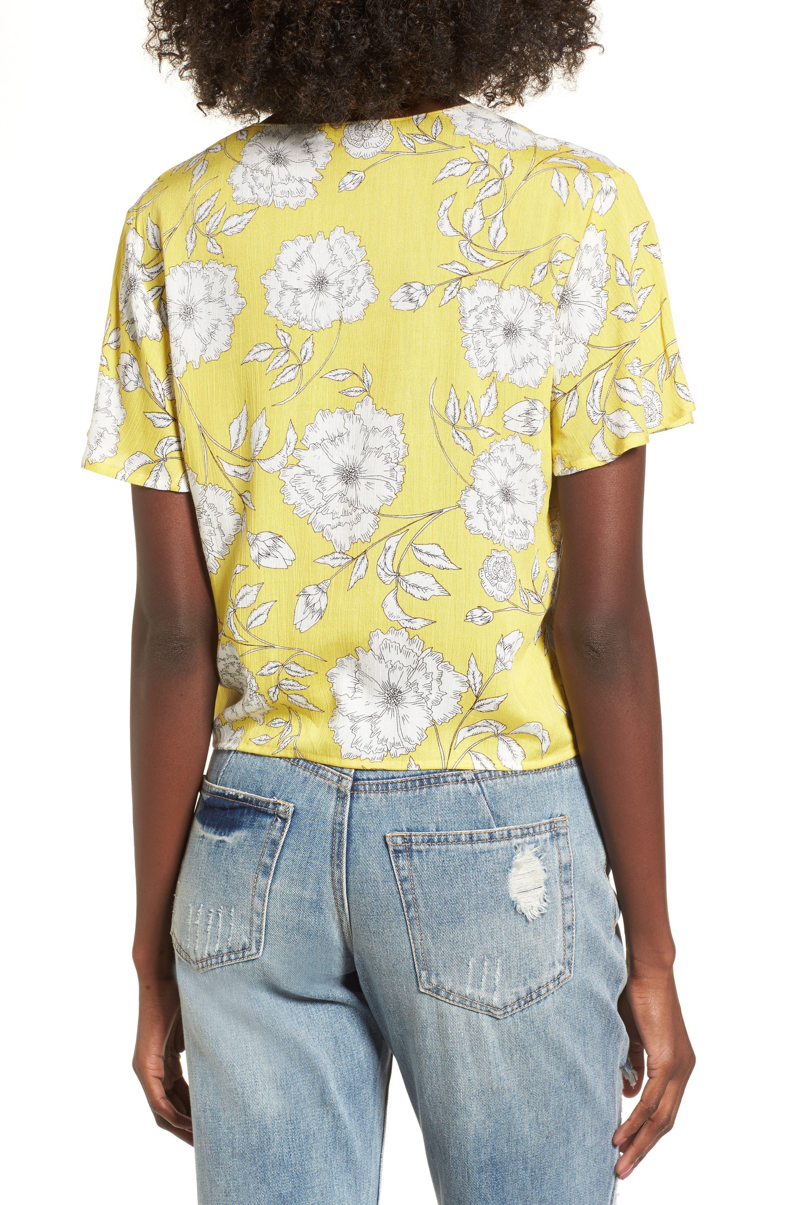 Knot Front Shirt,                             Alternate thumbnail 9, color,