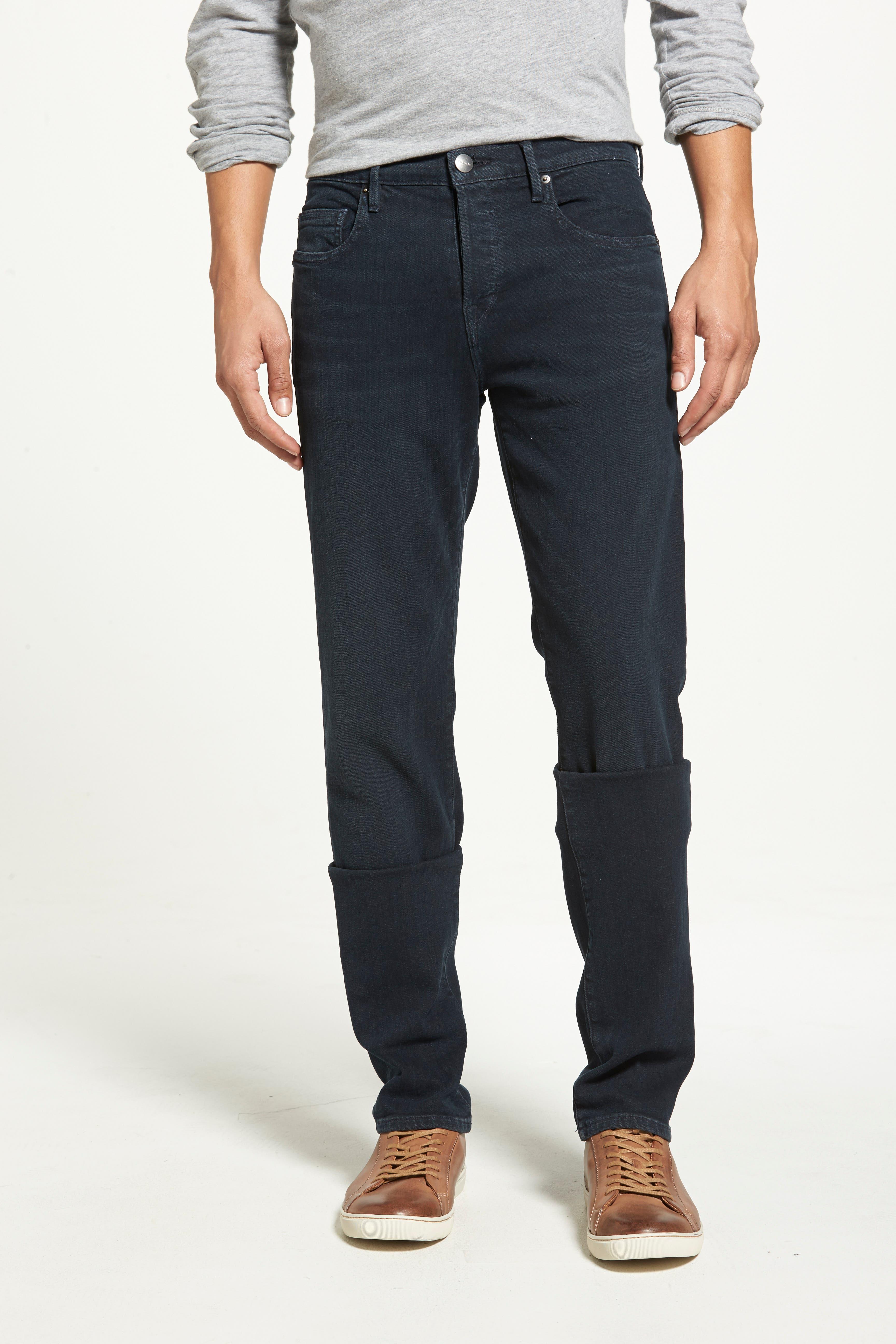 'L'Homme' Slim Fit Jeans,                             Alternate thumbnail 8, color,                             PLACID