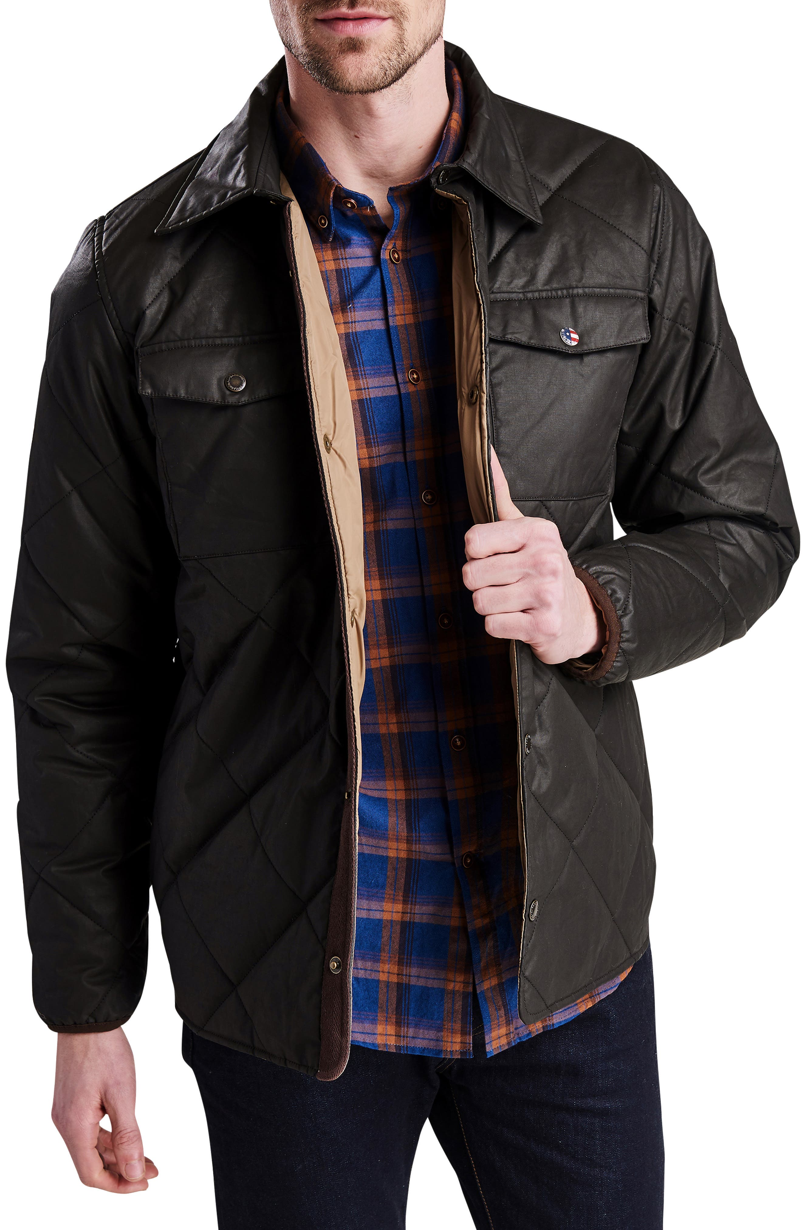 International Sonoran Quilted Shirt Jacket,                             Main thumbnail 1, color,                             BROWN