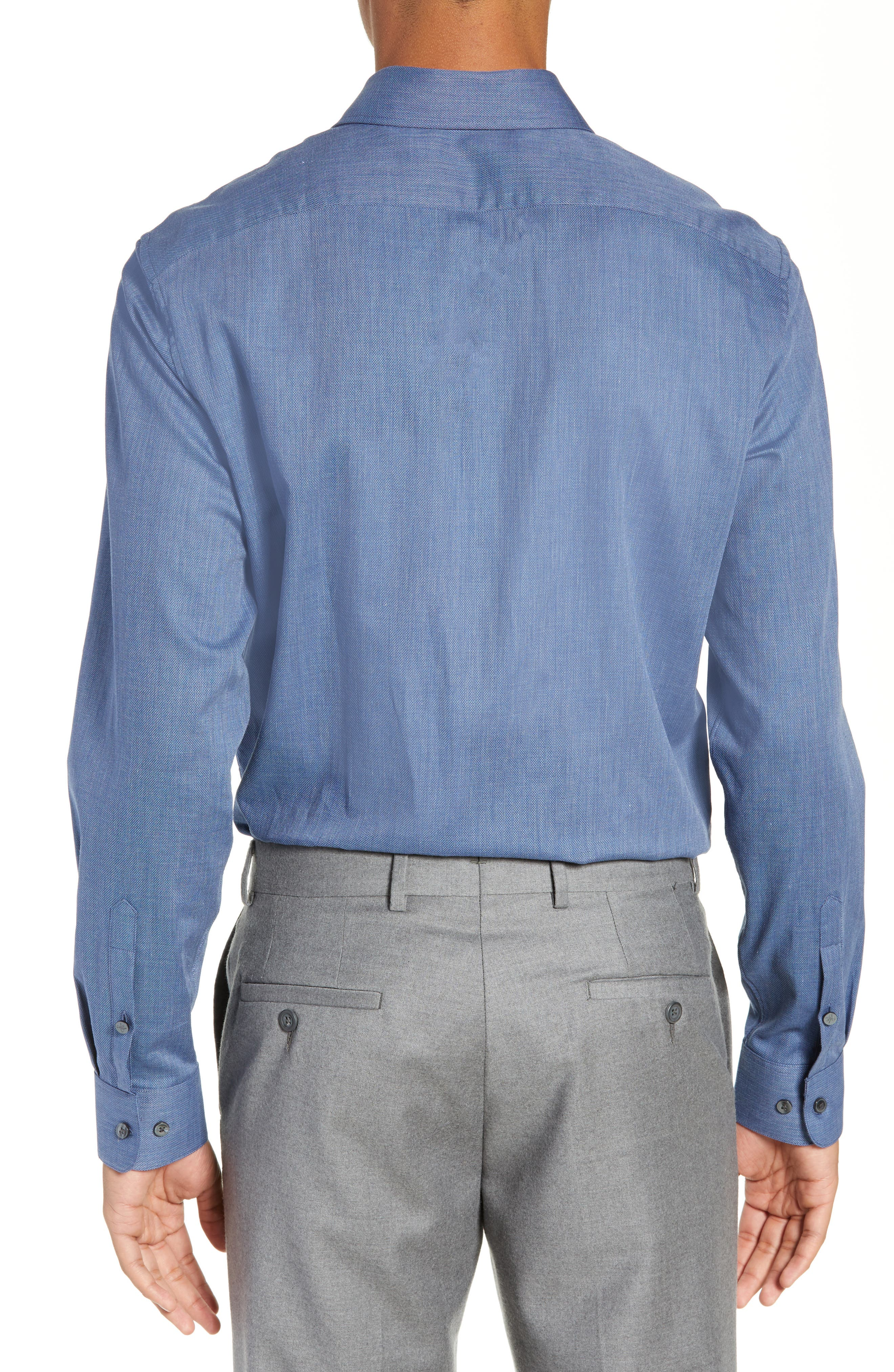 JOHN VARVATOS STAR USA,                             Regular Fit Solid Dress Shirt,                             Alternate thumbnail 3, color,                             415