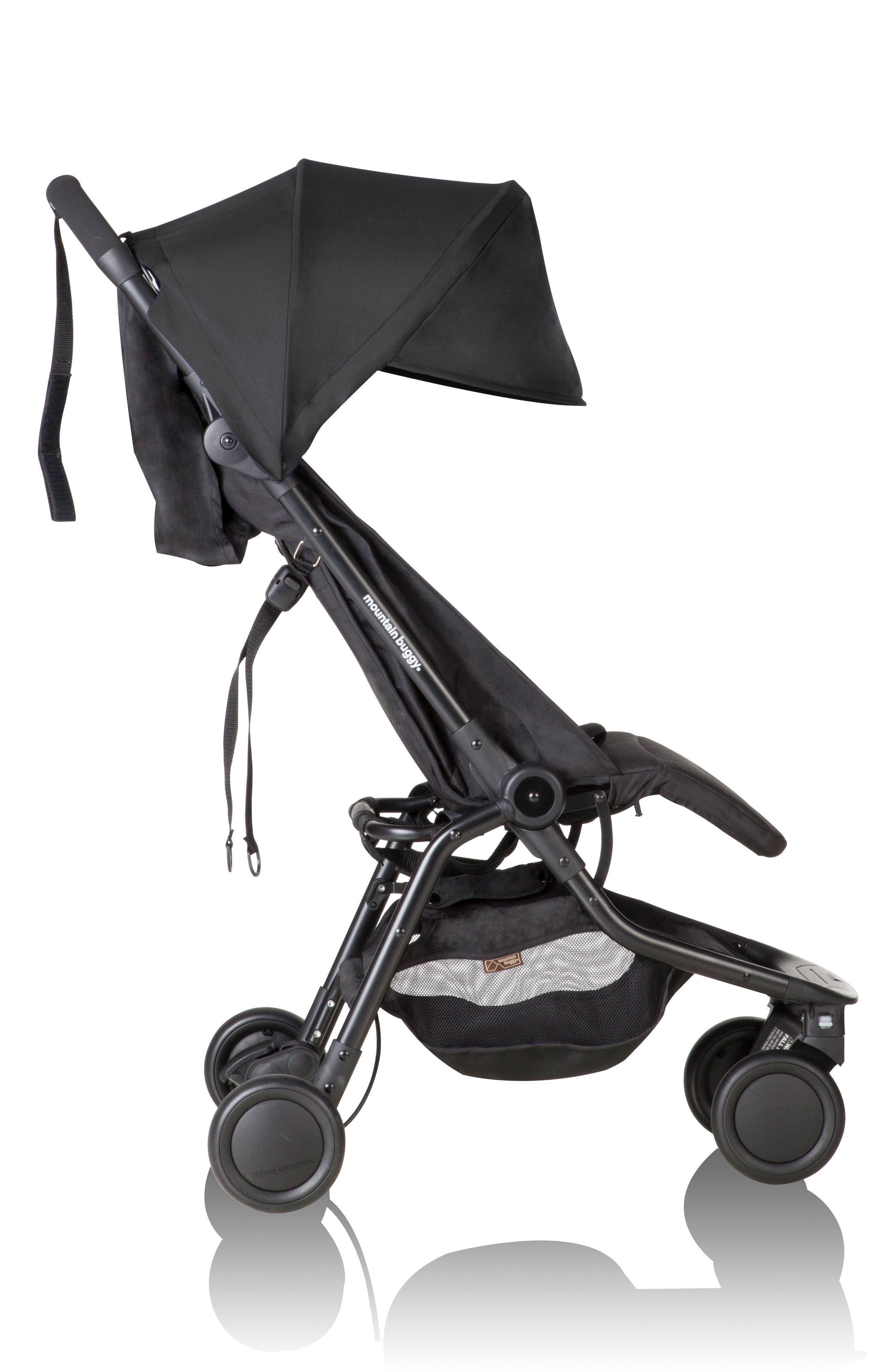 Nano Travel Stroller,                             Alternate thumbnail 3, color,                             BLACK