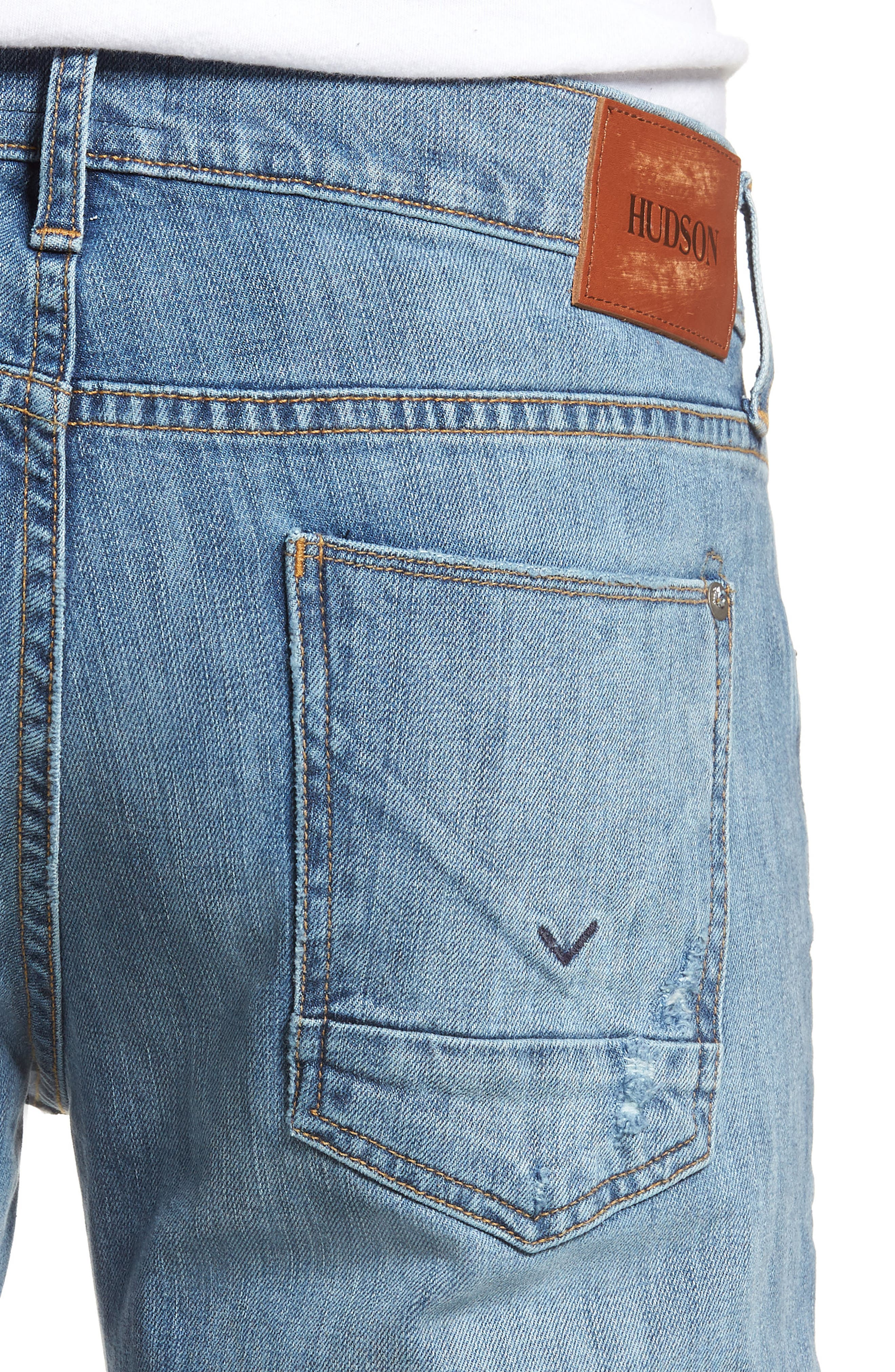 Byron Slim Straight Fit Jeans,                             Alternate thumbnail 4, color,                             425