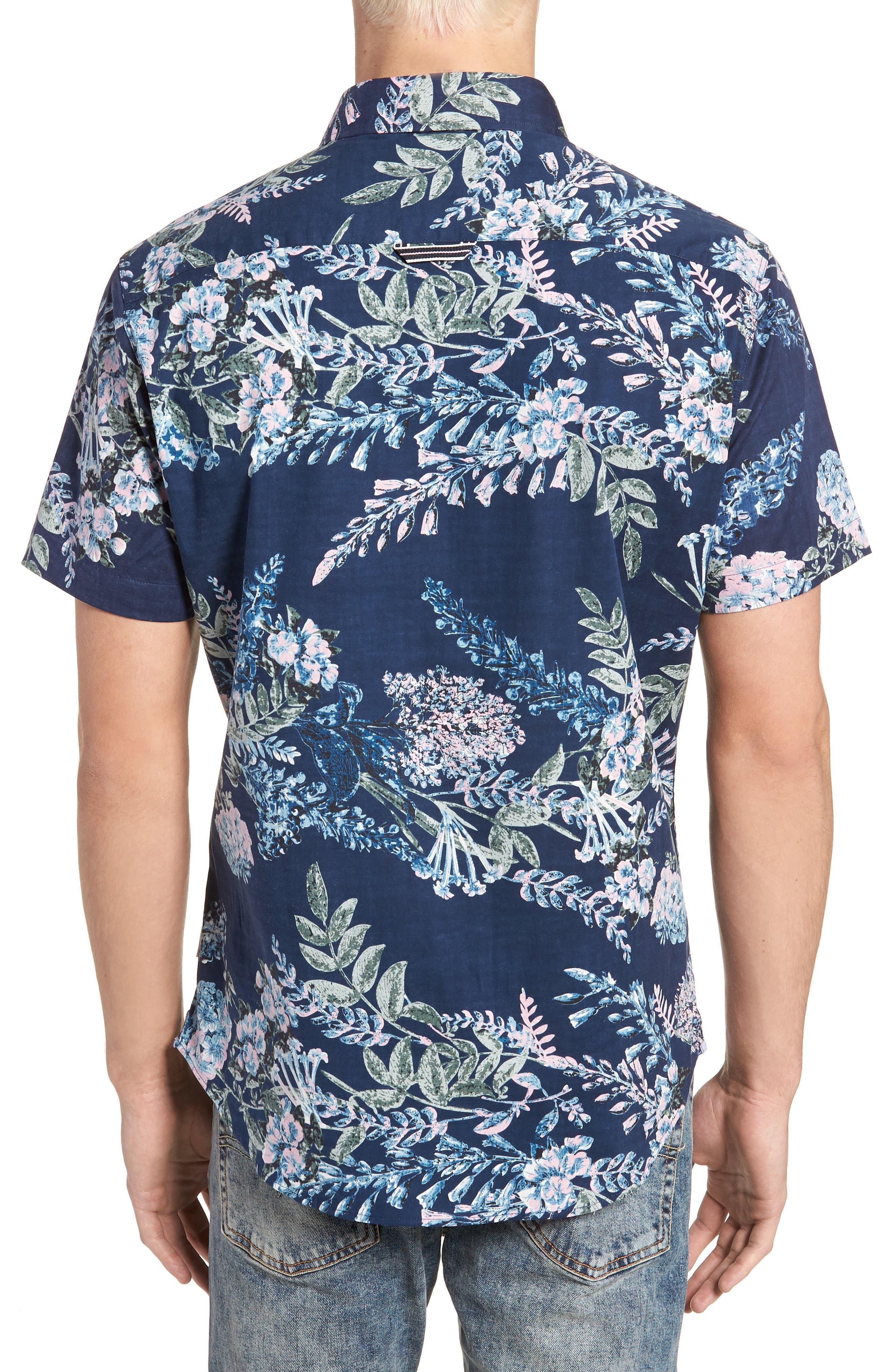 Conversation Peace Floral Sport Shirt,                             Alternate thumbnail 2, color,                             440