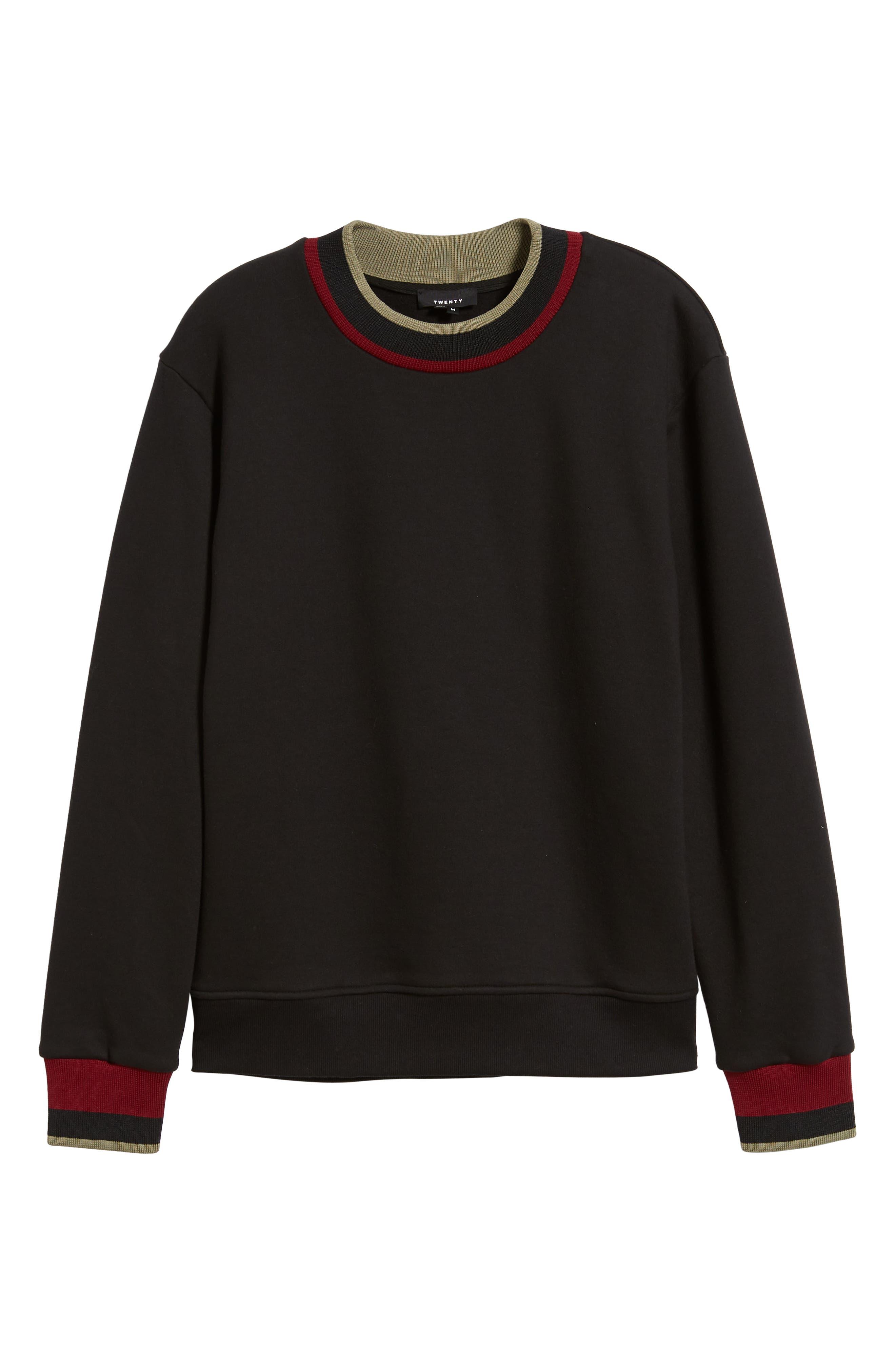 Pride Mock Neck Sweatshirt,                             Alternate thumbnail 6, color,                             JET BLACK