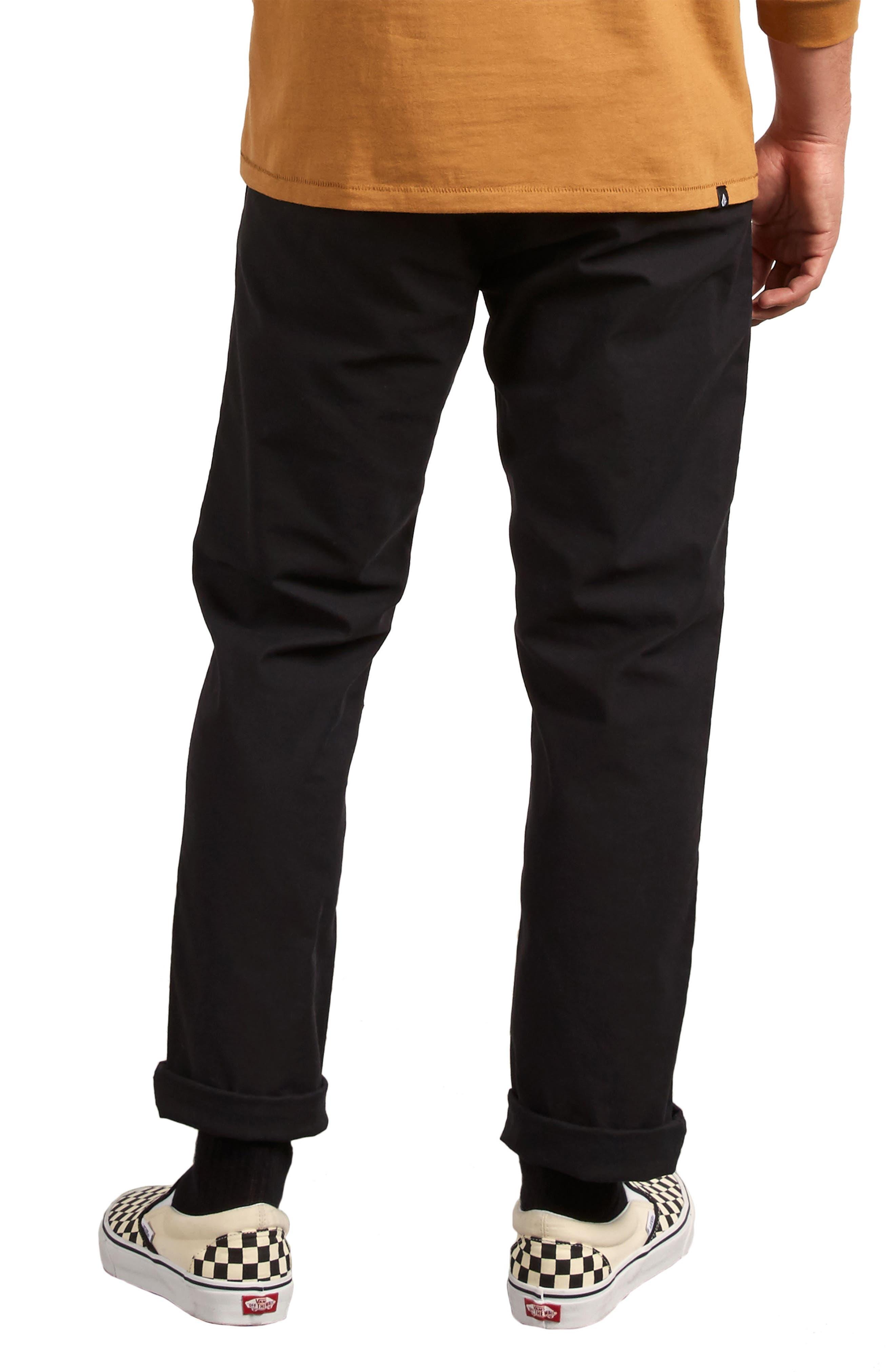 Gritter Modern Fit Straight Leg Chino Pants,                             Alternate thumbnail 2, color,                             BLACK