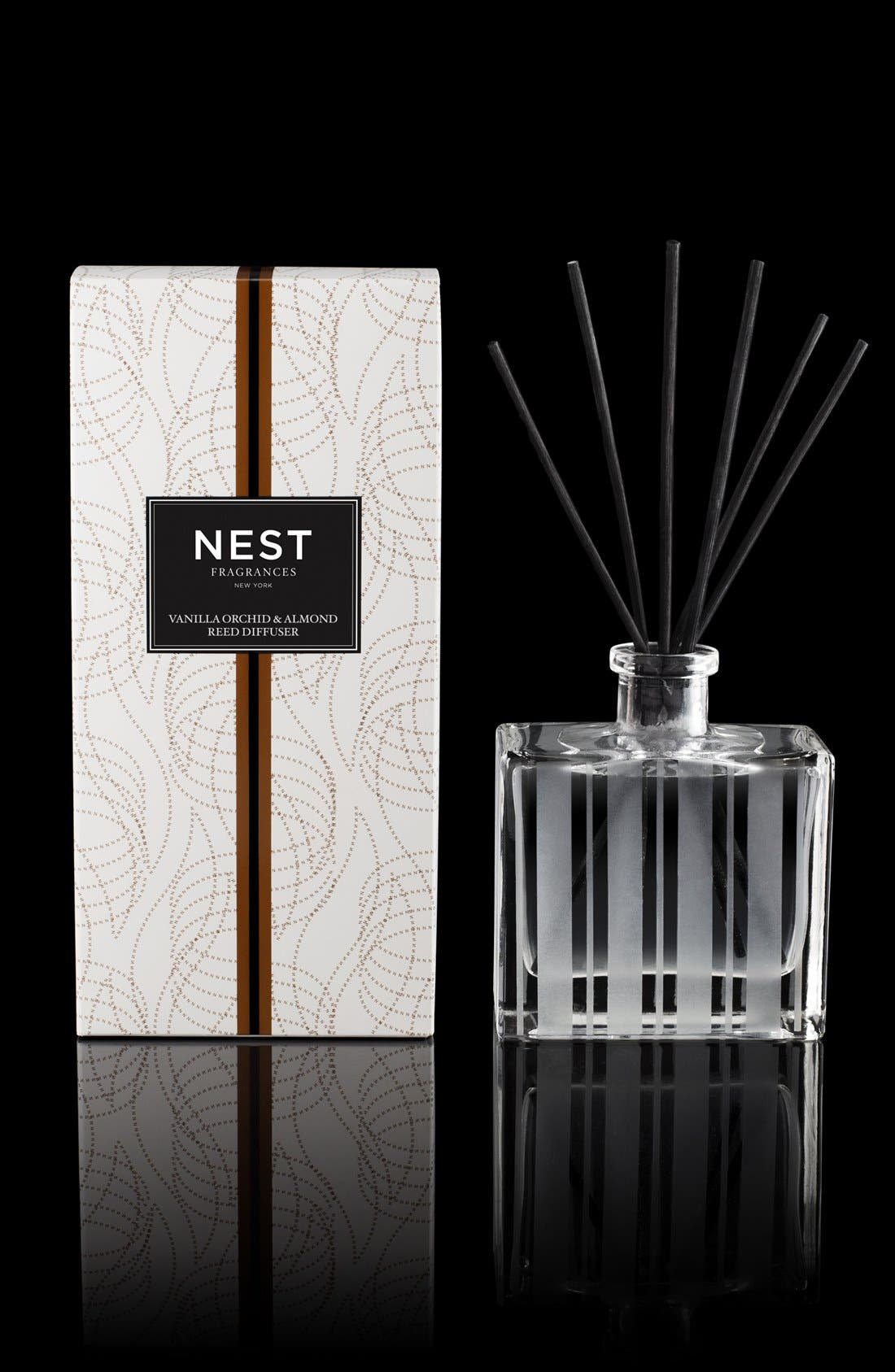 Vanilla Orchid & Almond Reed Diffuser,                             Alternate thumbnail 4, color,                             NO COLOR