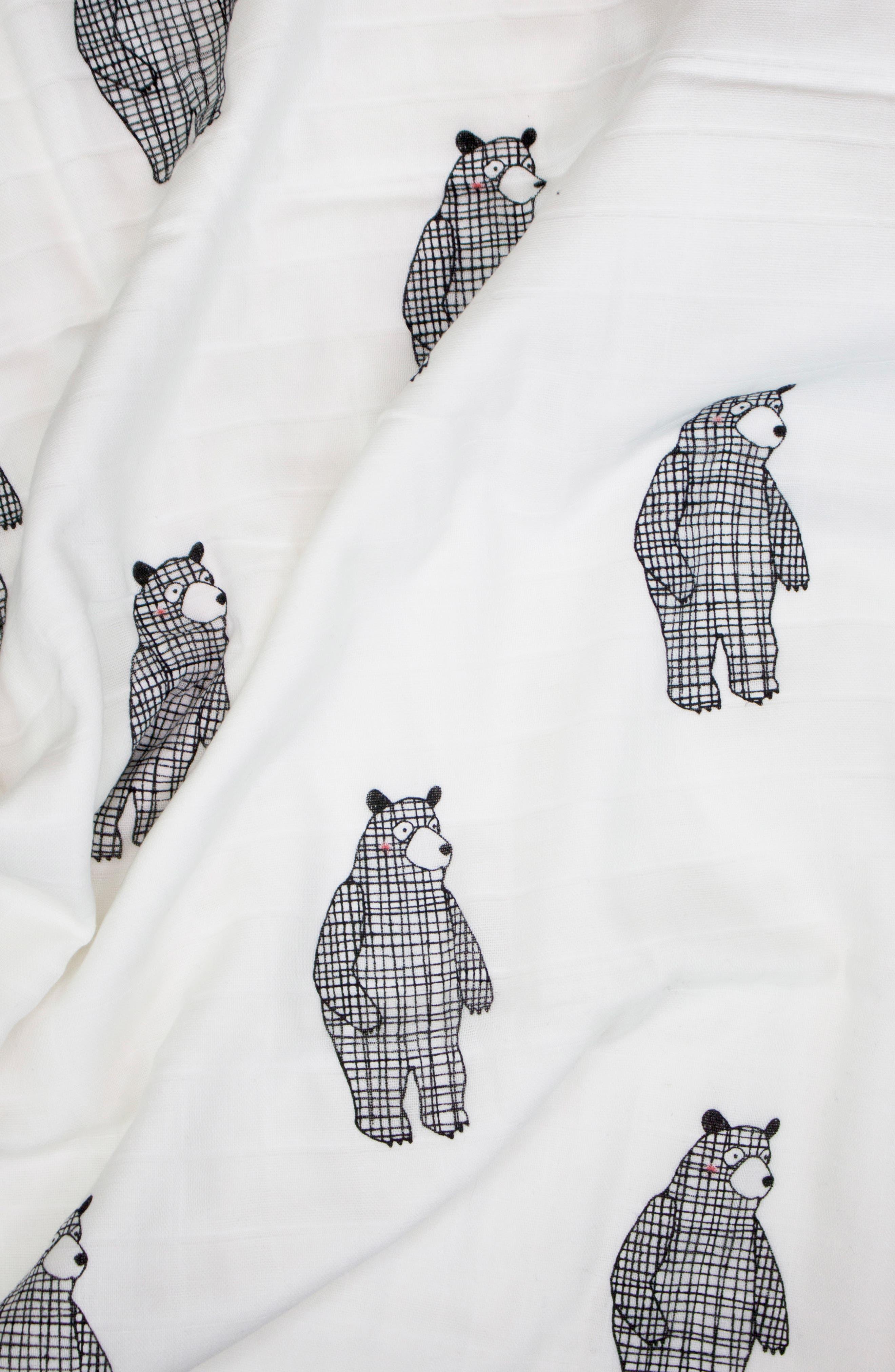 2-Pack Cuddle Blankets,                             Alternate thumbnail 3, color,                             BIG BEAR/ MONO BIRDS