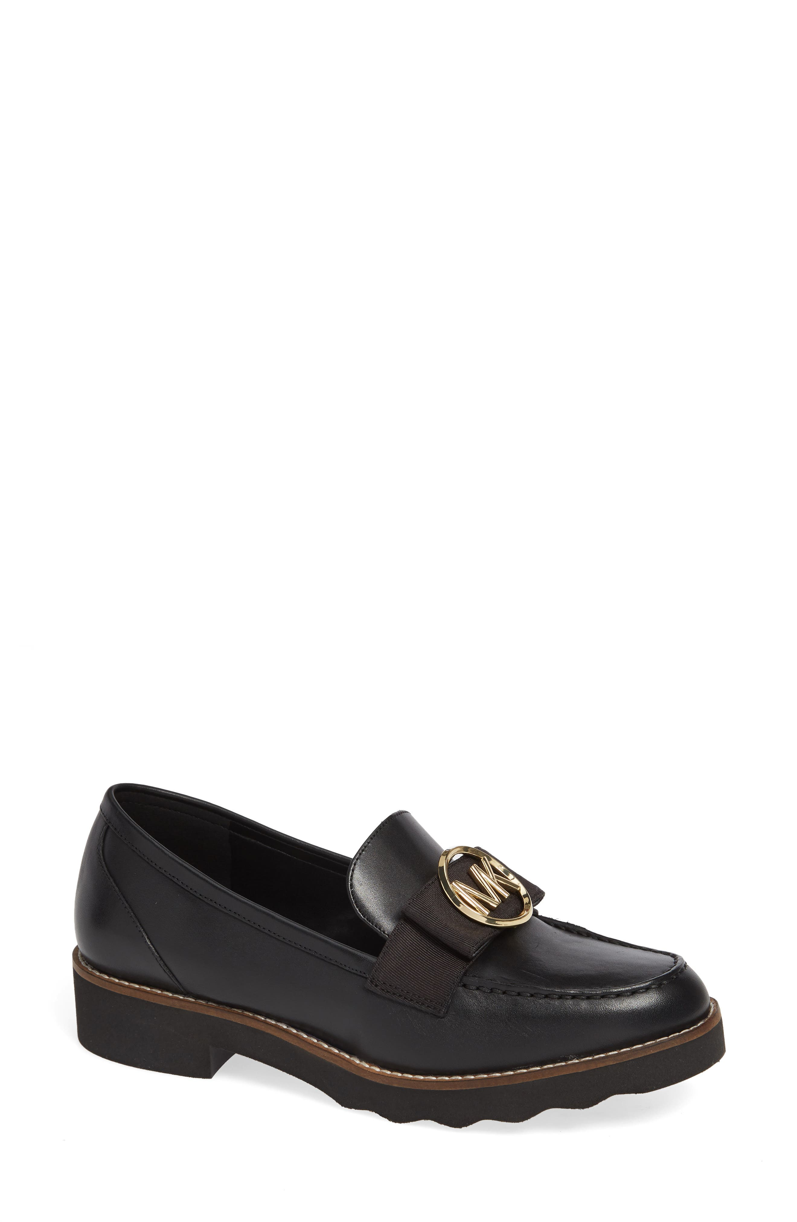Aden Loafer,                             Main thumbnail 1, color,                             BLACK VACHETTA LEATHER