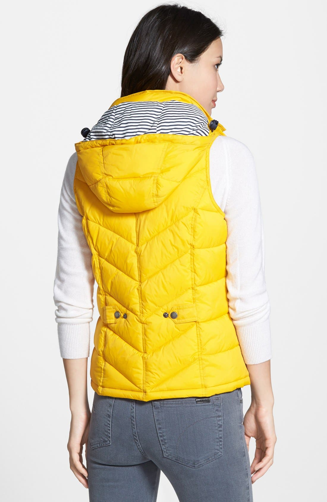 'Forland' Hooded Quilted Vest,                             Alternate thumbnail 3, color,                             700