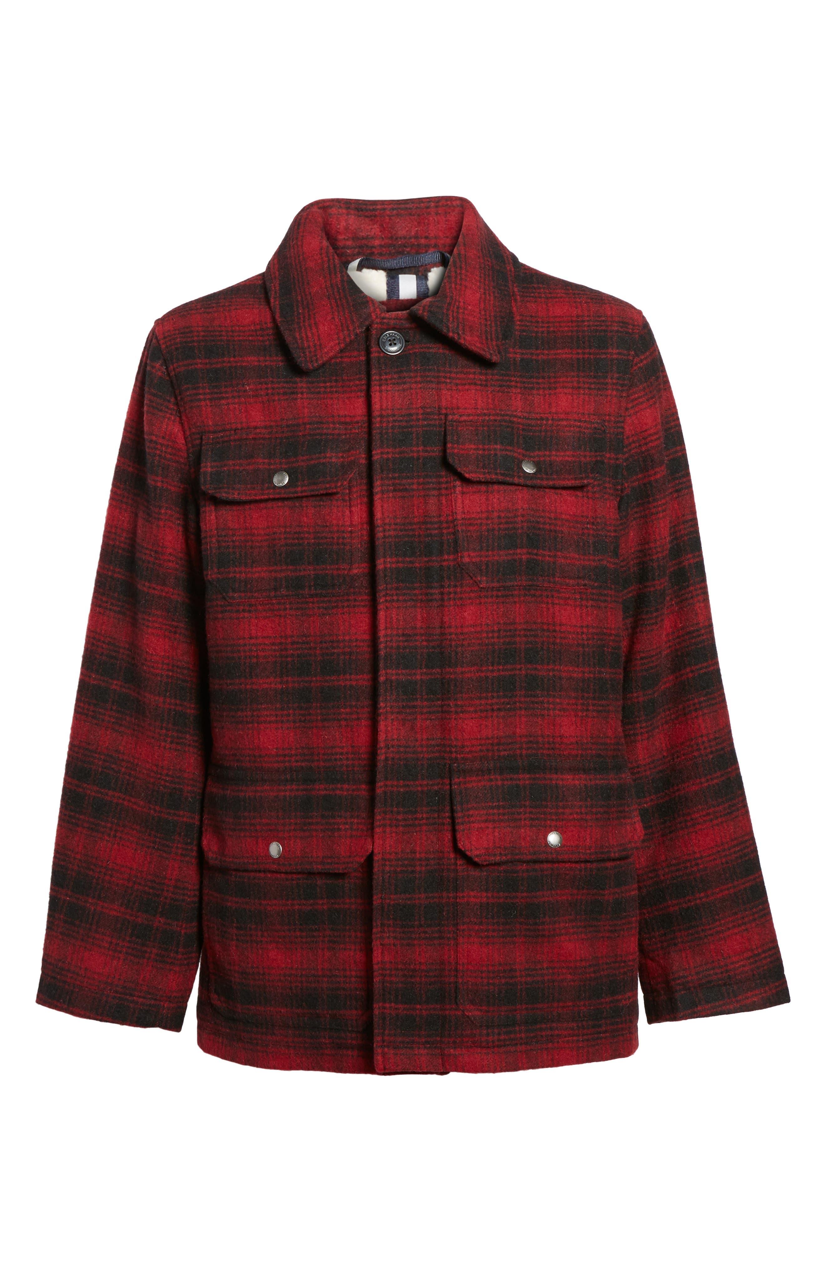 Hunter Jack Wool Blend Shirt Jacket,                             Alternate thumbnail 5, color,