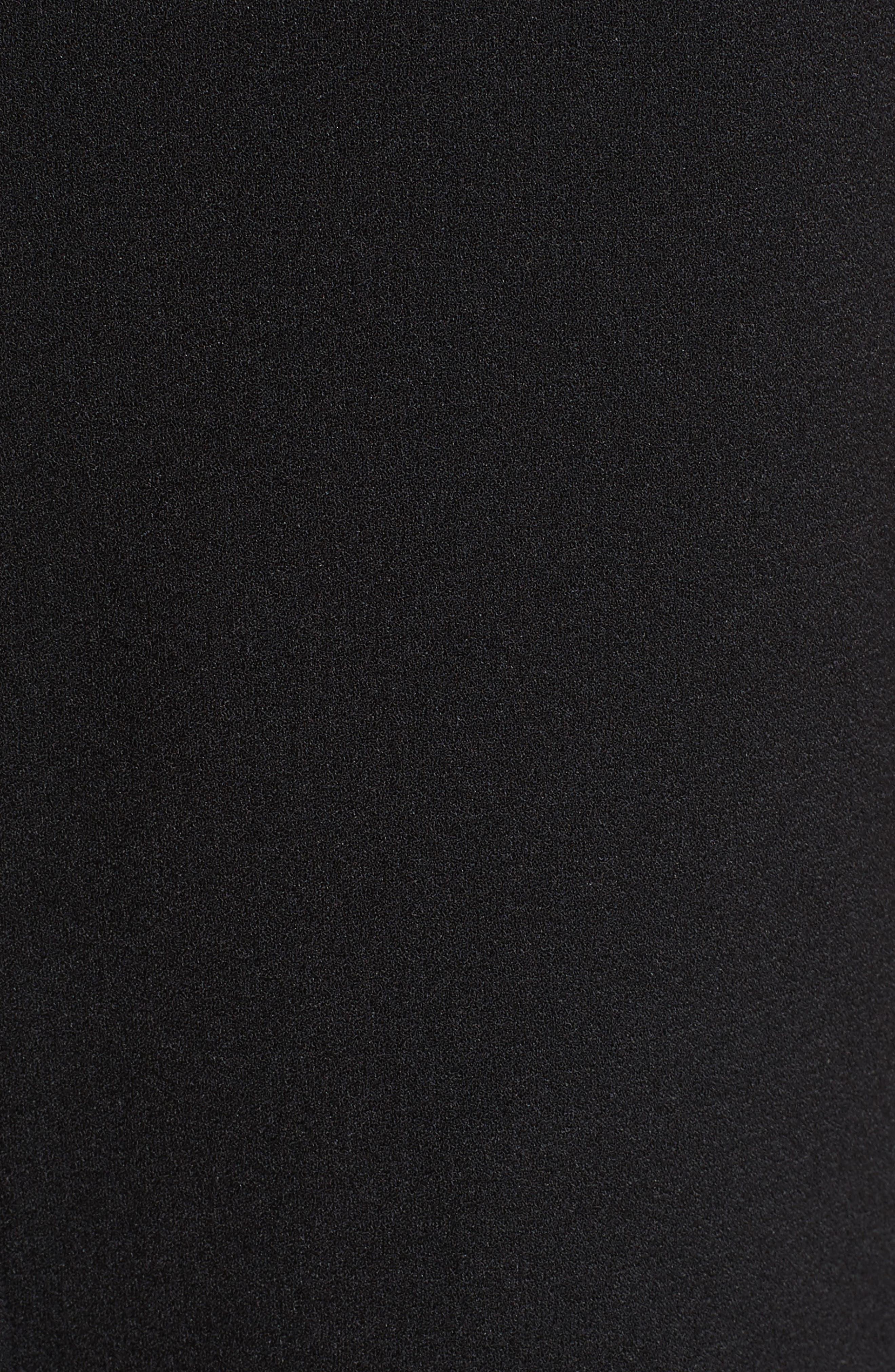 Marques'Almeida Asymmetrical Bicolor Crepe Skirt,                             Alternate thumbnail 5, color,                             003