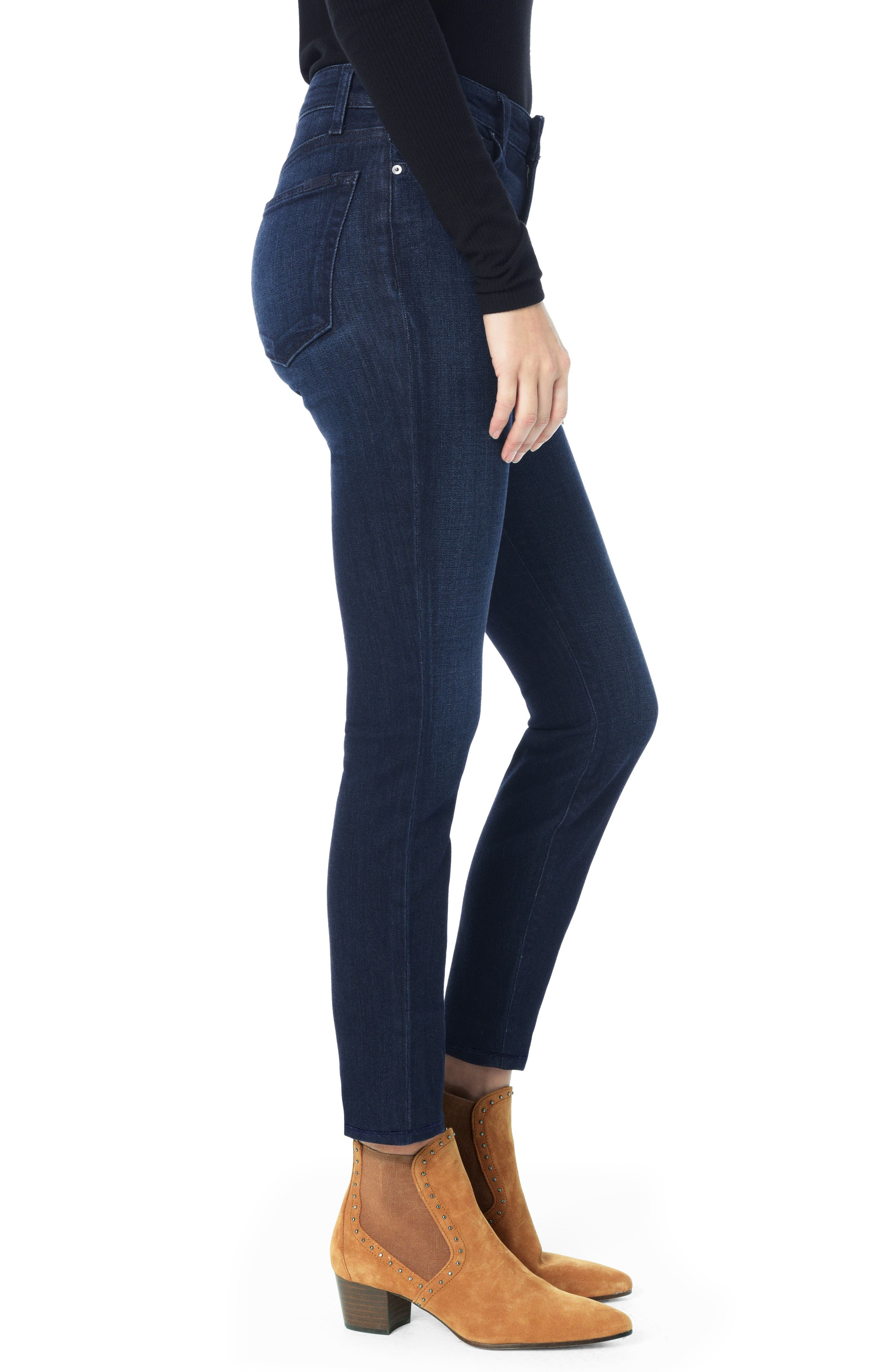 Charlie High Waist Ankle Skinny Jeans,                             Alternate thumbnail 3, color,                             LUPE