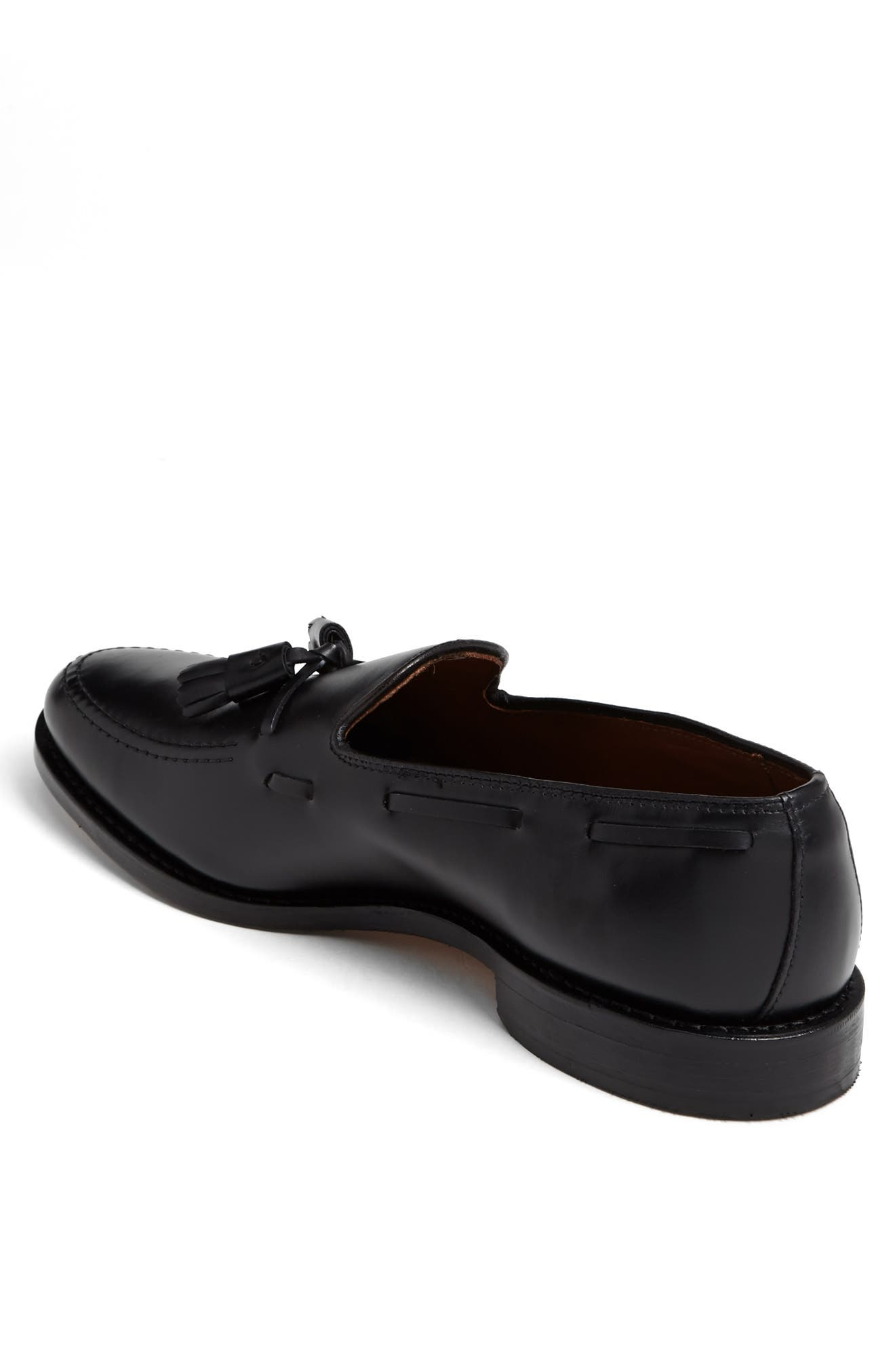 'Grayson' Tassel Loafer,                             Alternate thumbnail 5, color,                             Black Leather