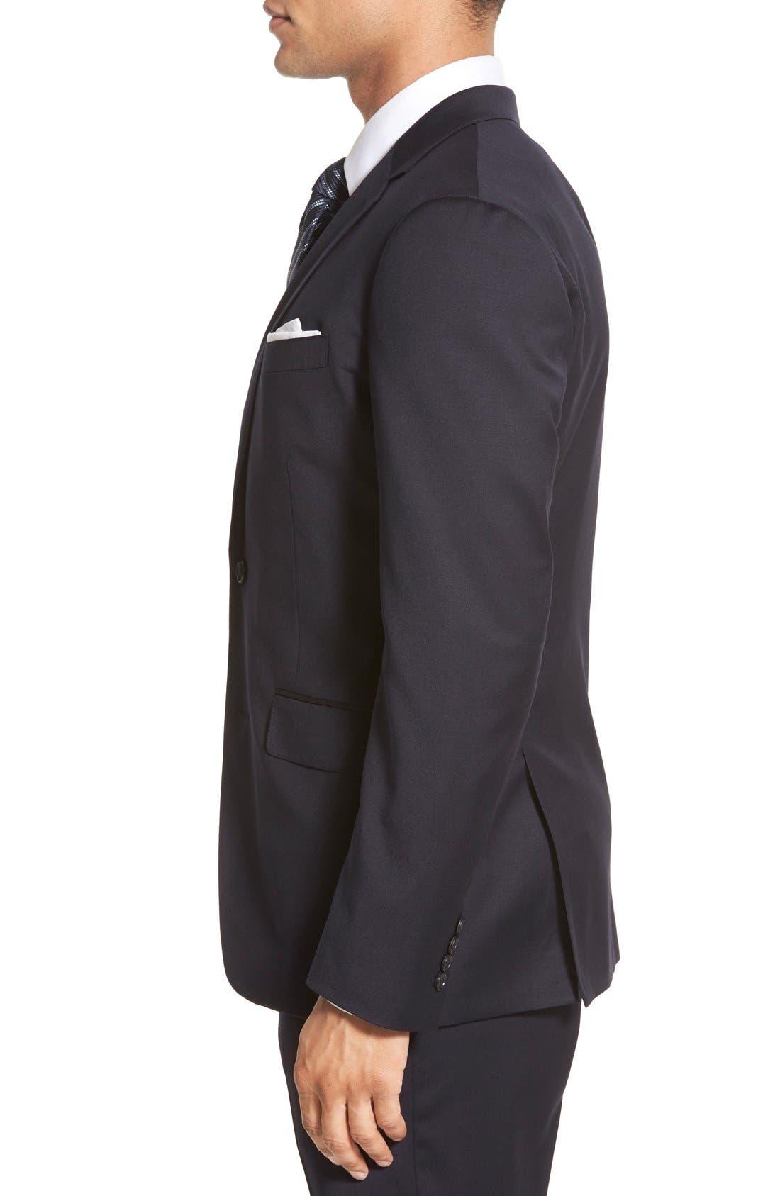 Jetsetter Trim Fit Solid Stretch Wool Sport Coat,                             Alternate thumbnail 5, color,                             400