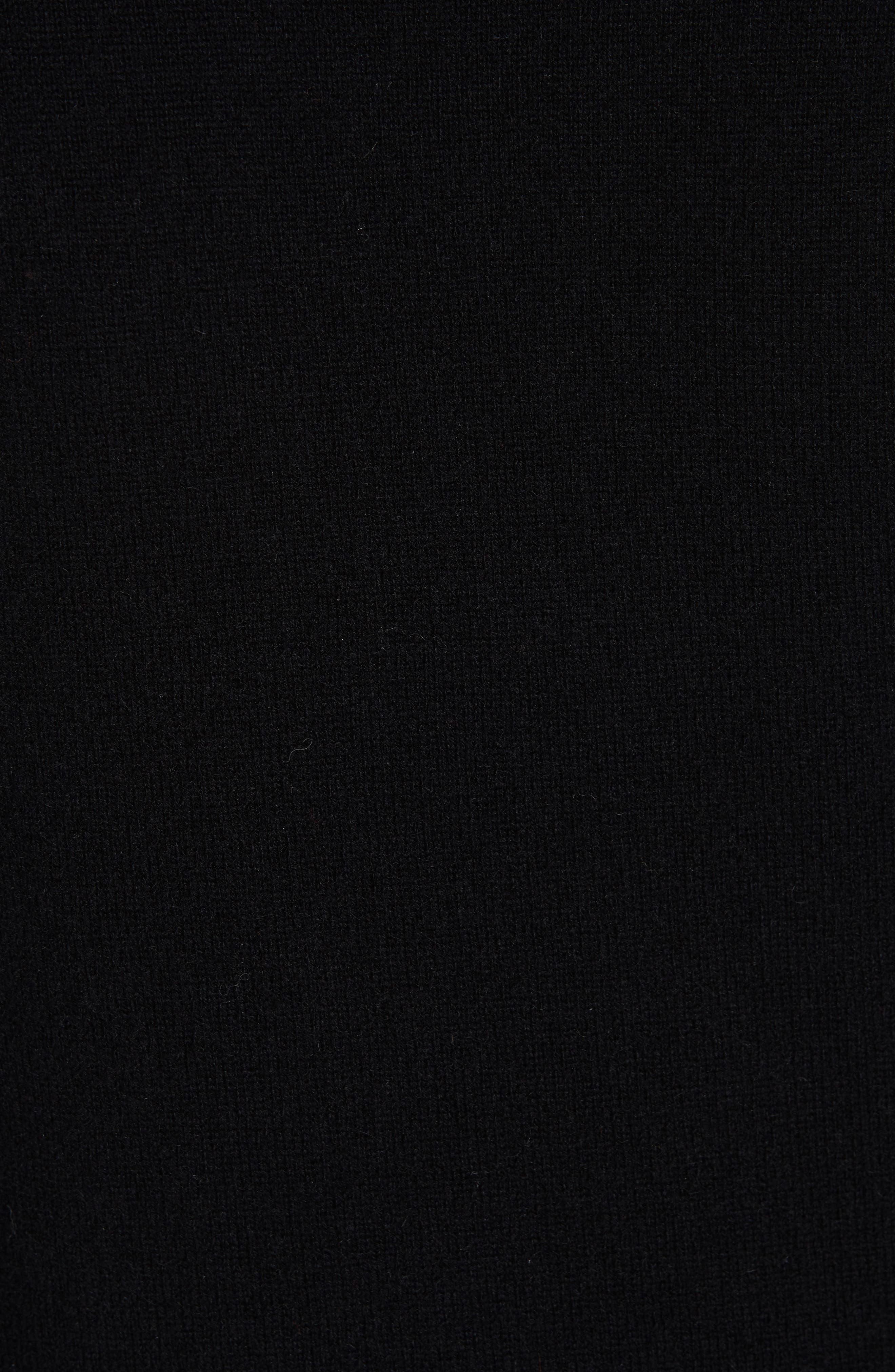 Lilla Puff Sleeve Cashmere Sweater,                             Alternate thumbnail 5, color,                             BLACK