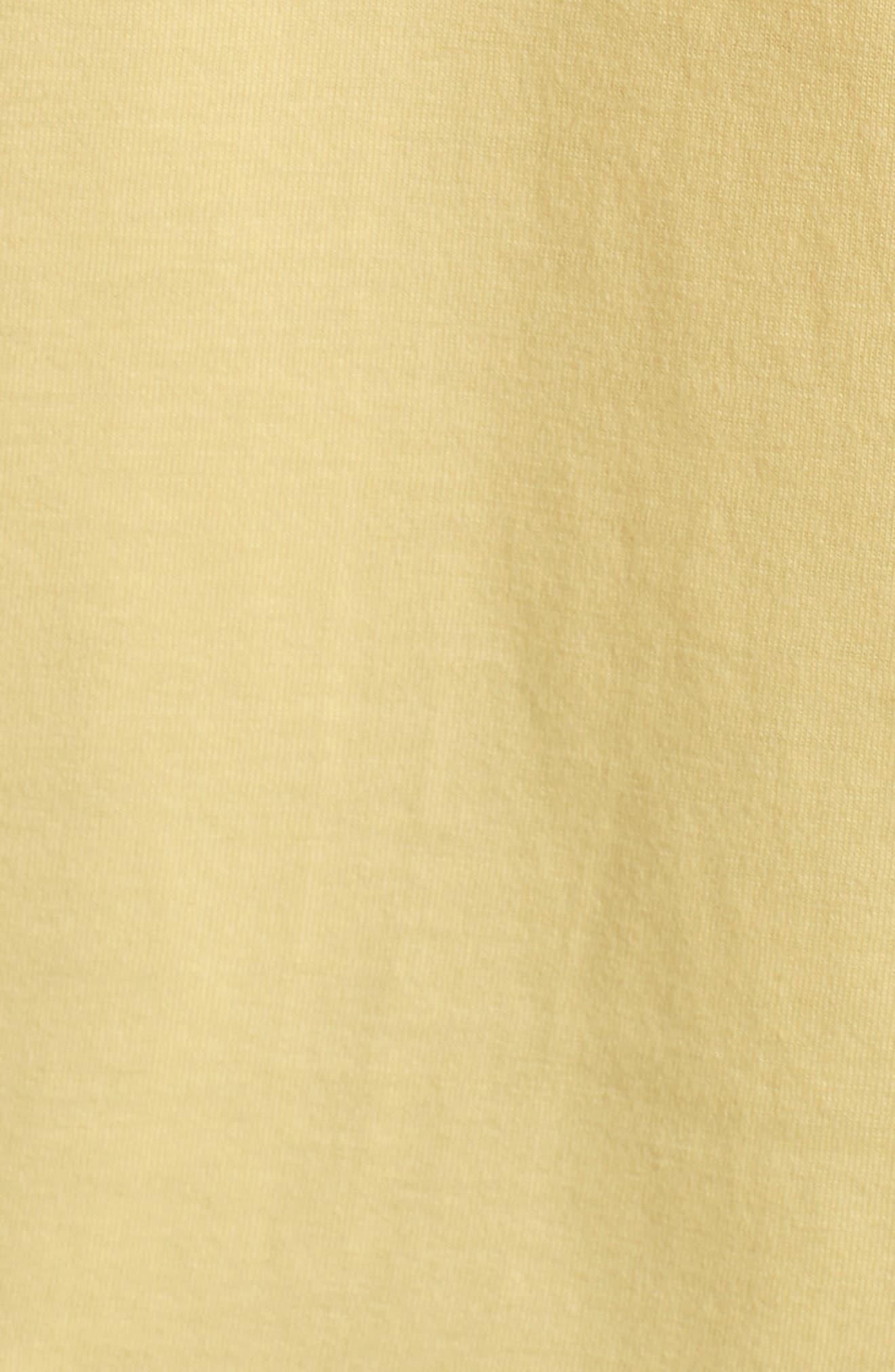 V-Neck T-Shirt,                             Alternate thumbnail 5, color,                             BANANA