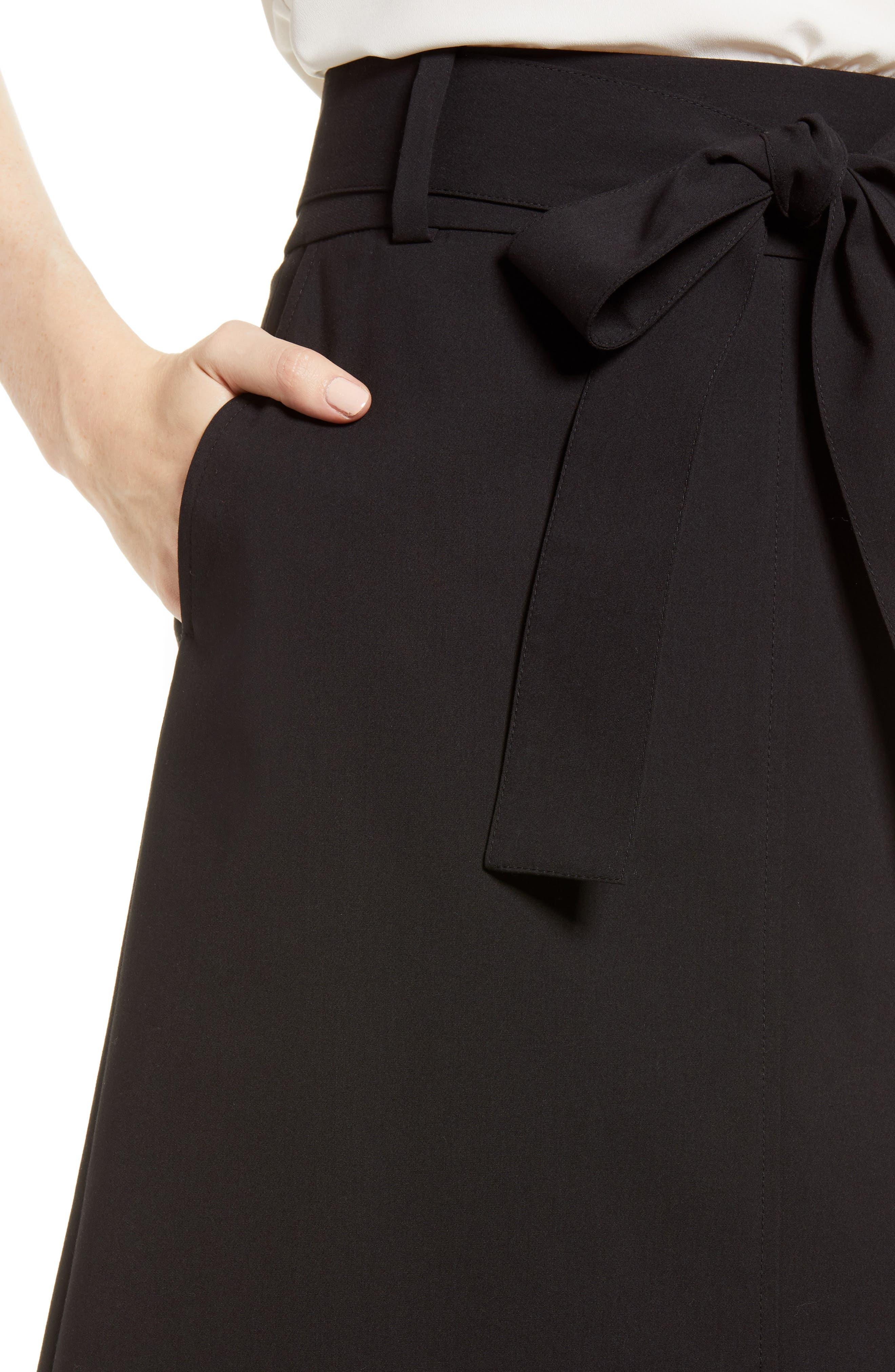 Tie Waist Skirt,                             Alternate thumbnail 4, color,                             001