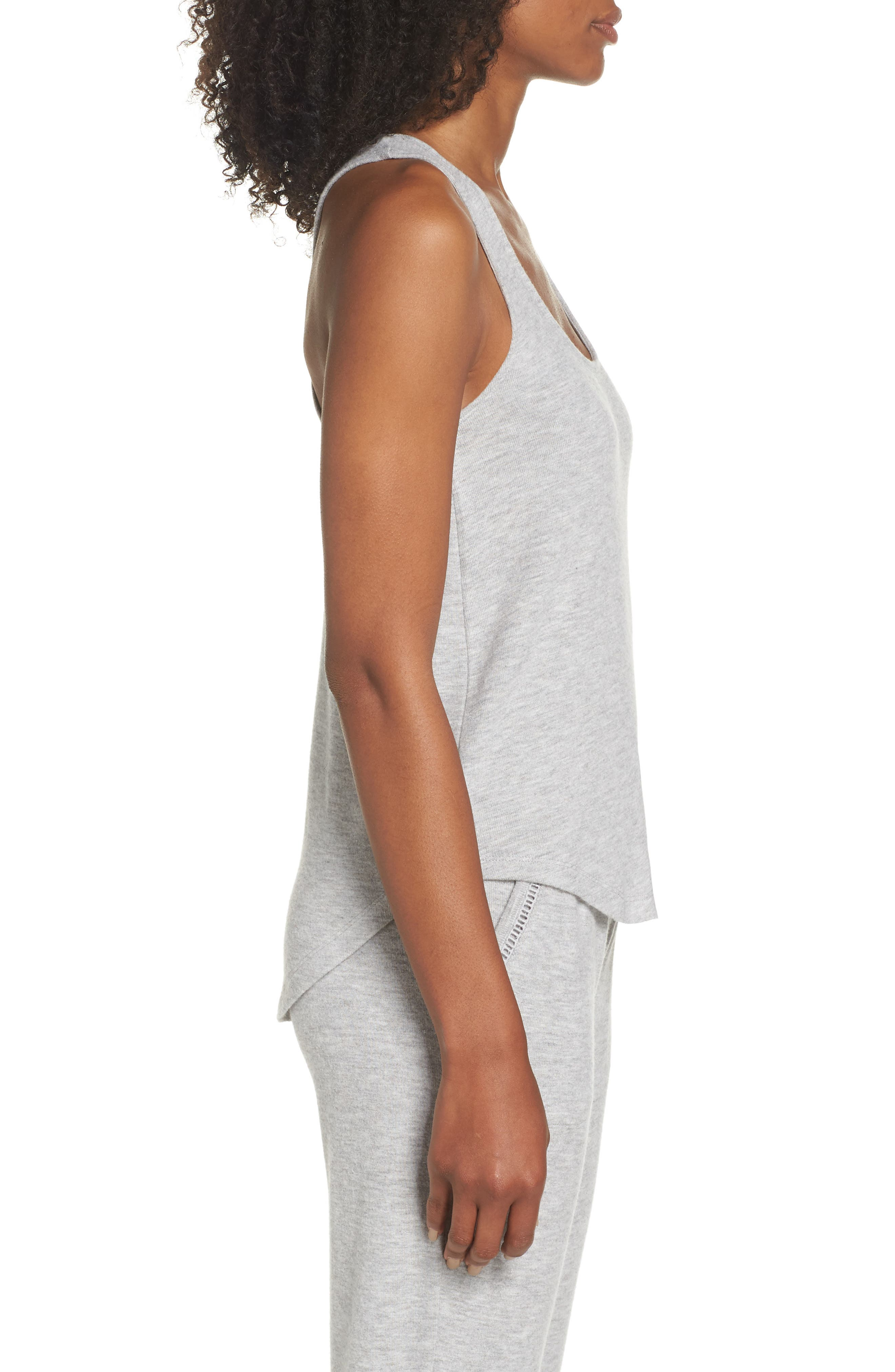 Racerback Tank,                             Alternate thumbnail 3, color,                             H GREY