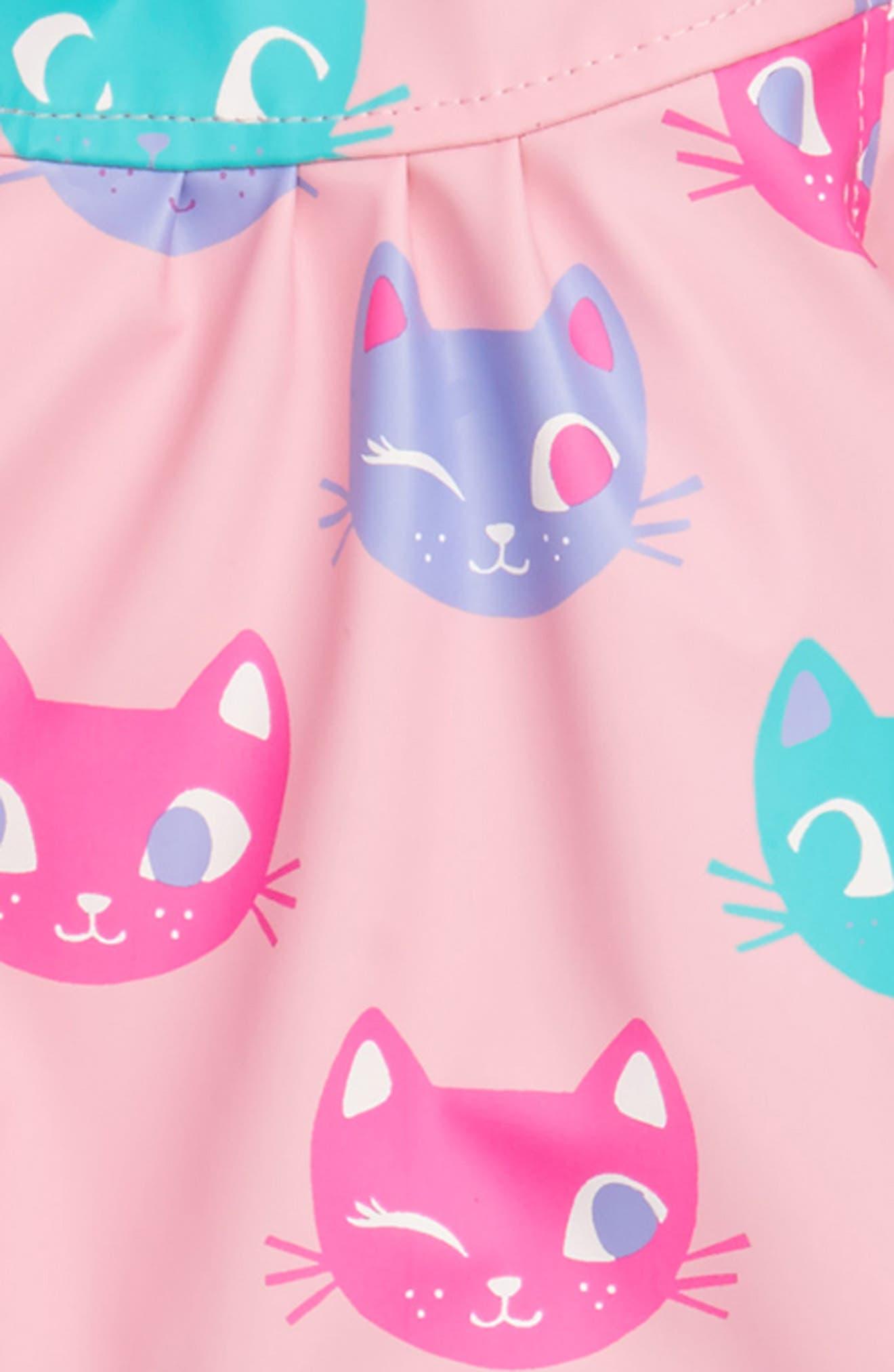 Silly Kitties Print Raincoat,                             Alternate thumbnail 2, color,                             550