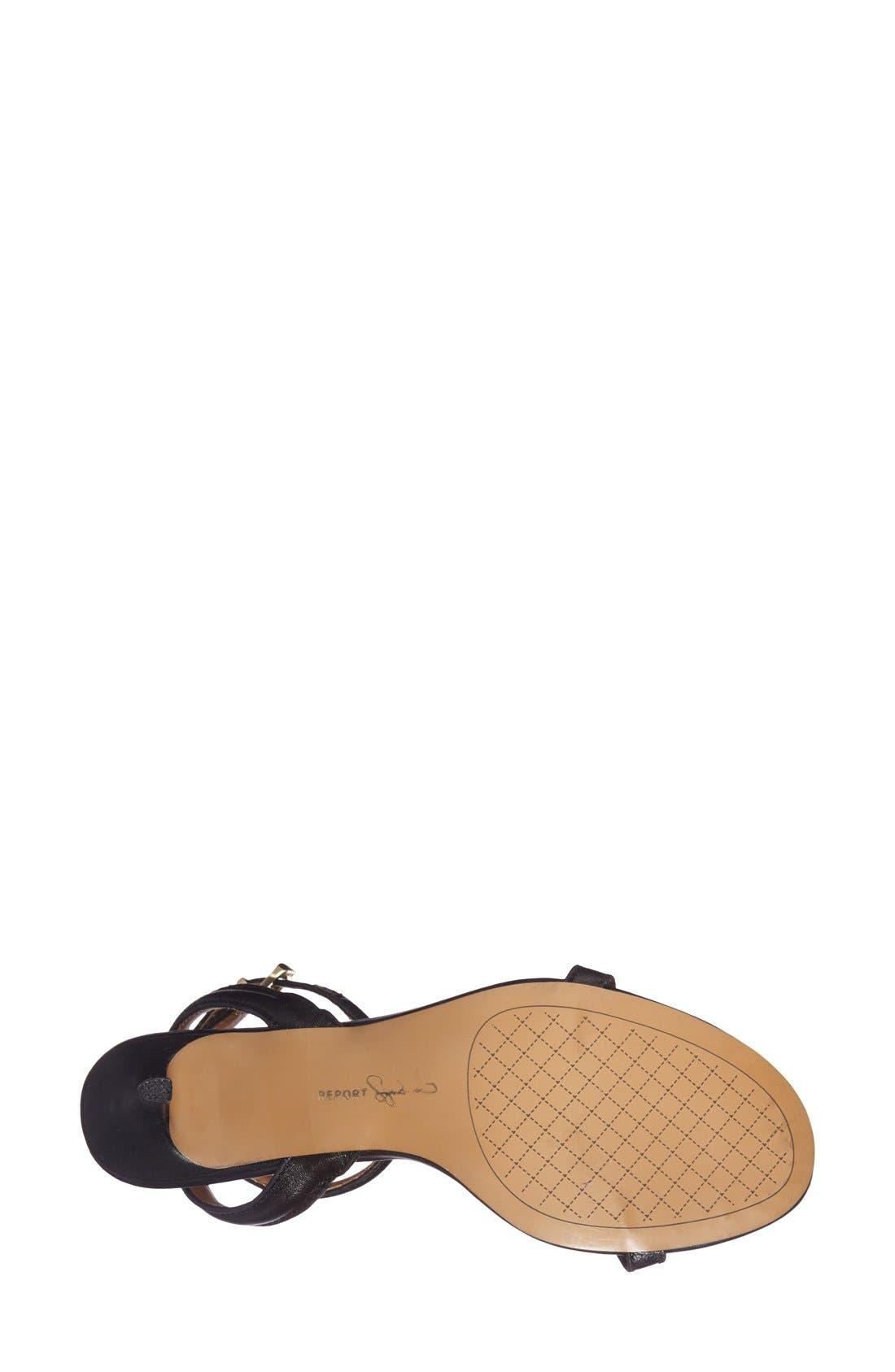 REPORT 'Signature Neely' Ankle Strap Sandal,                             Alternate thumbnail 3, color,                             001