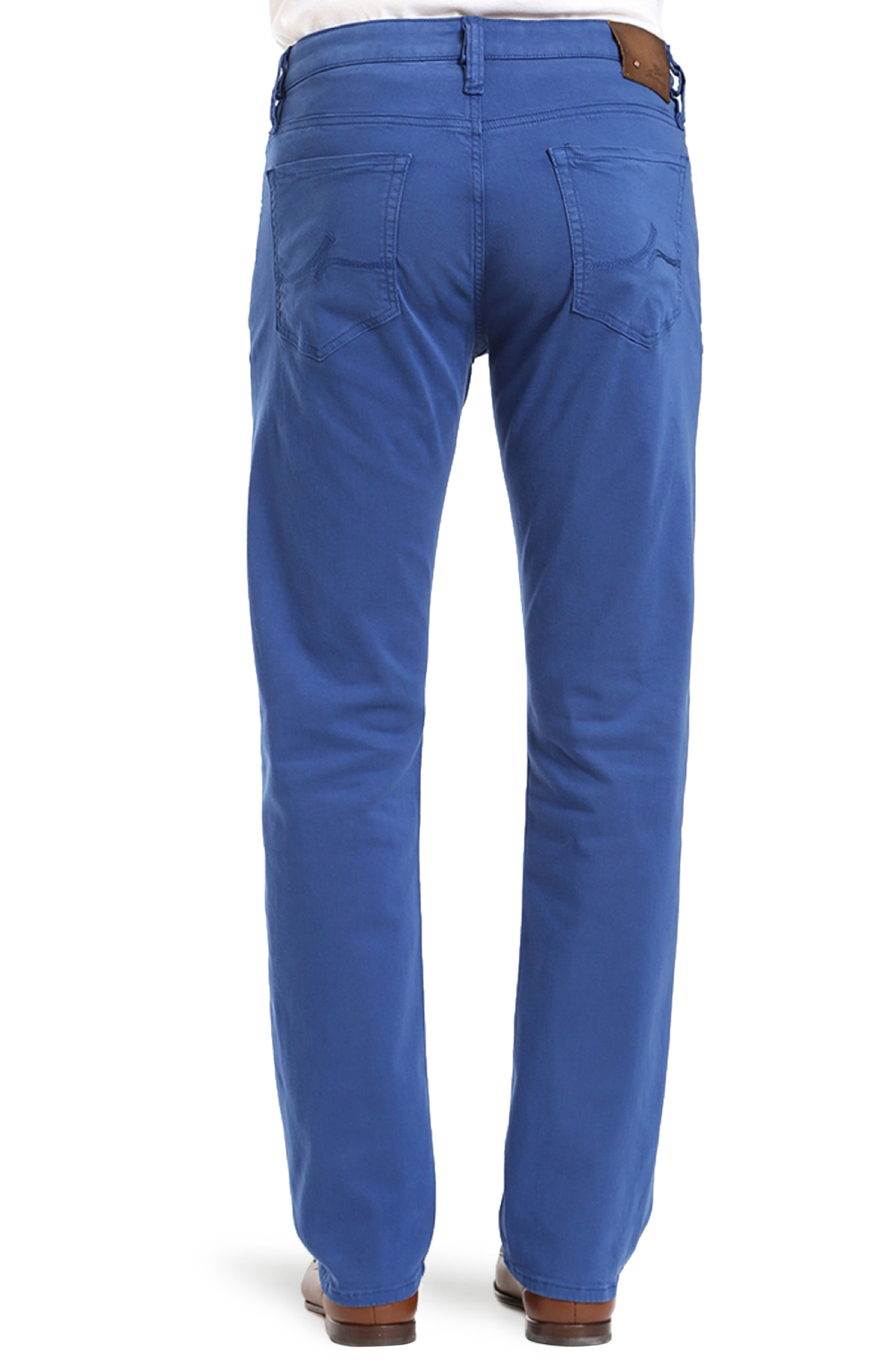 Courage Straight Leg Twill Pants,                             Alternate thumbnail 2, color,                             BLUE