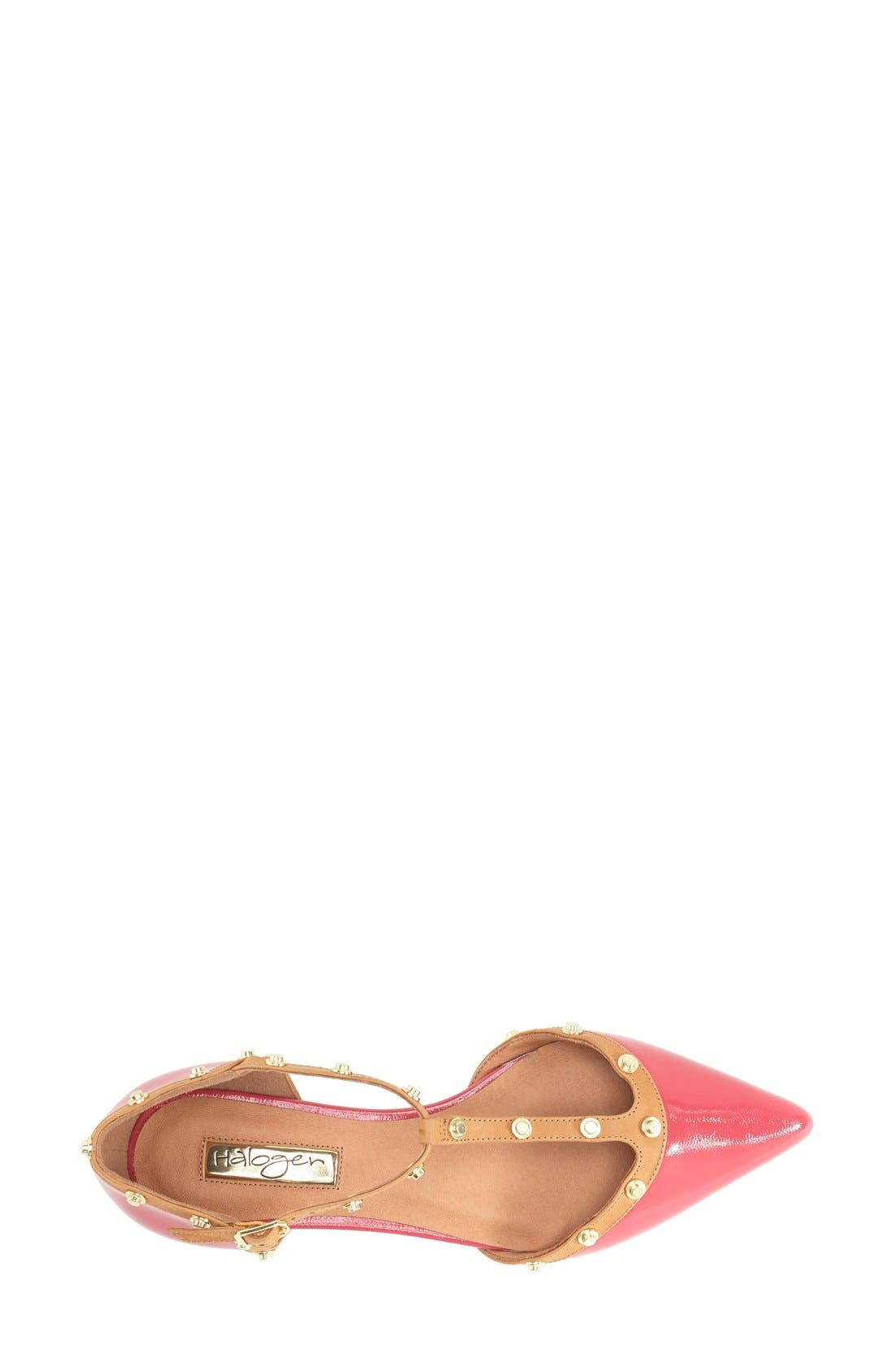 'Olson' Pointy Toe Studded T-Strap Flat,                             Alternate thumbnail 48, color,
