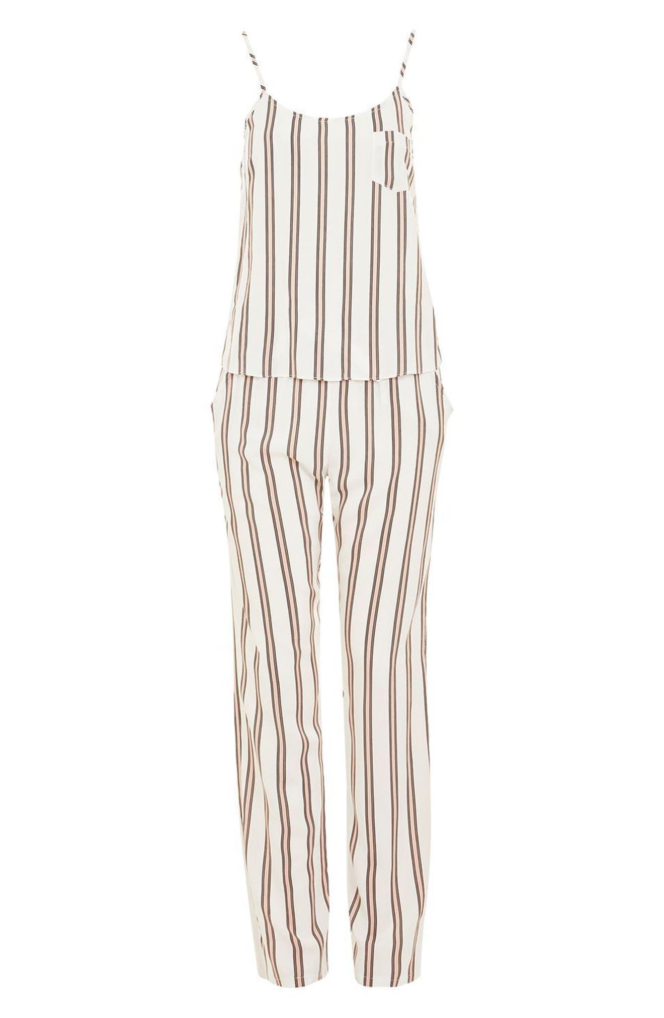 Spaced Stripe Pajamas,                             Alternate thumbnail 3, color,