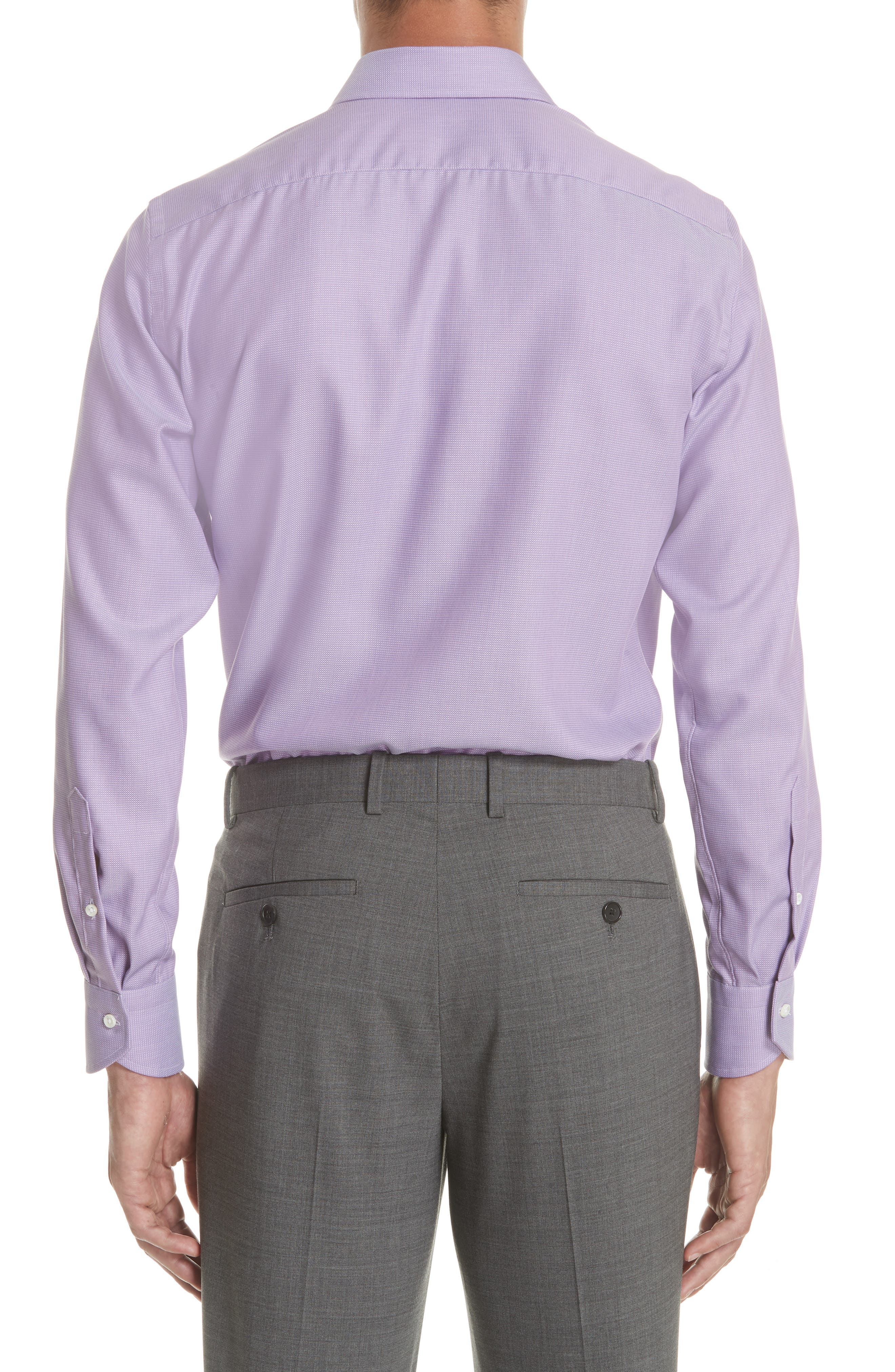 Regular Fit Solid Dress Shirt,                             Alternate thumbnail 3, color,                             520