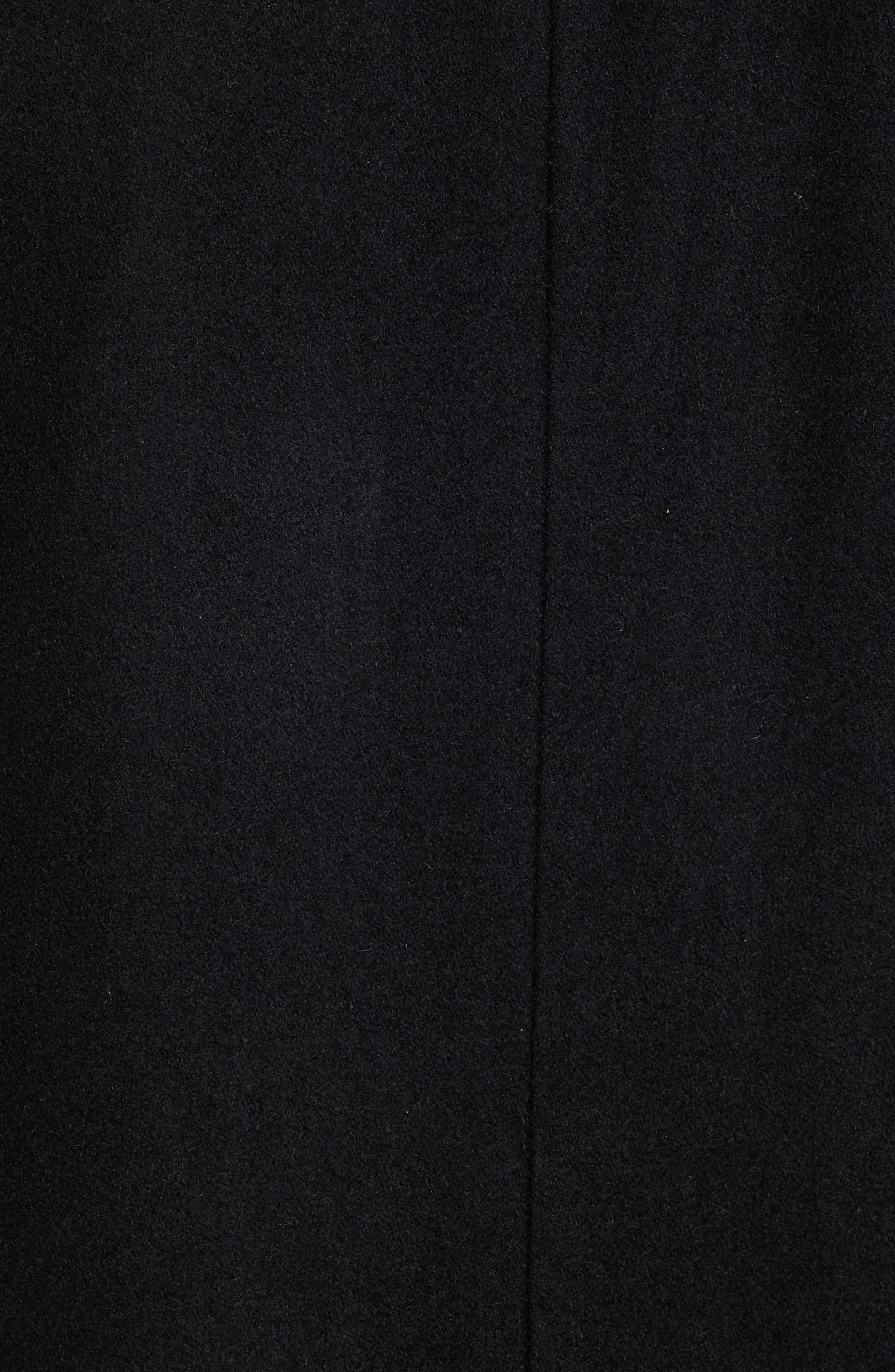 Classic Wool Blend Car Coat with Inset Bib,                             Alternate thumbnail 7, color,                             BLACK