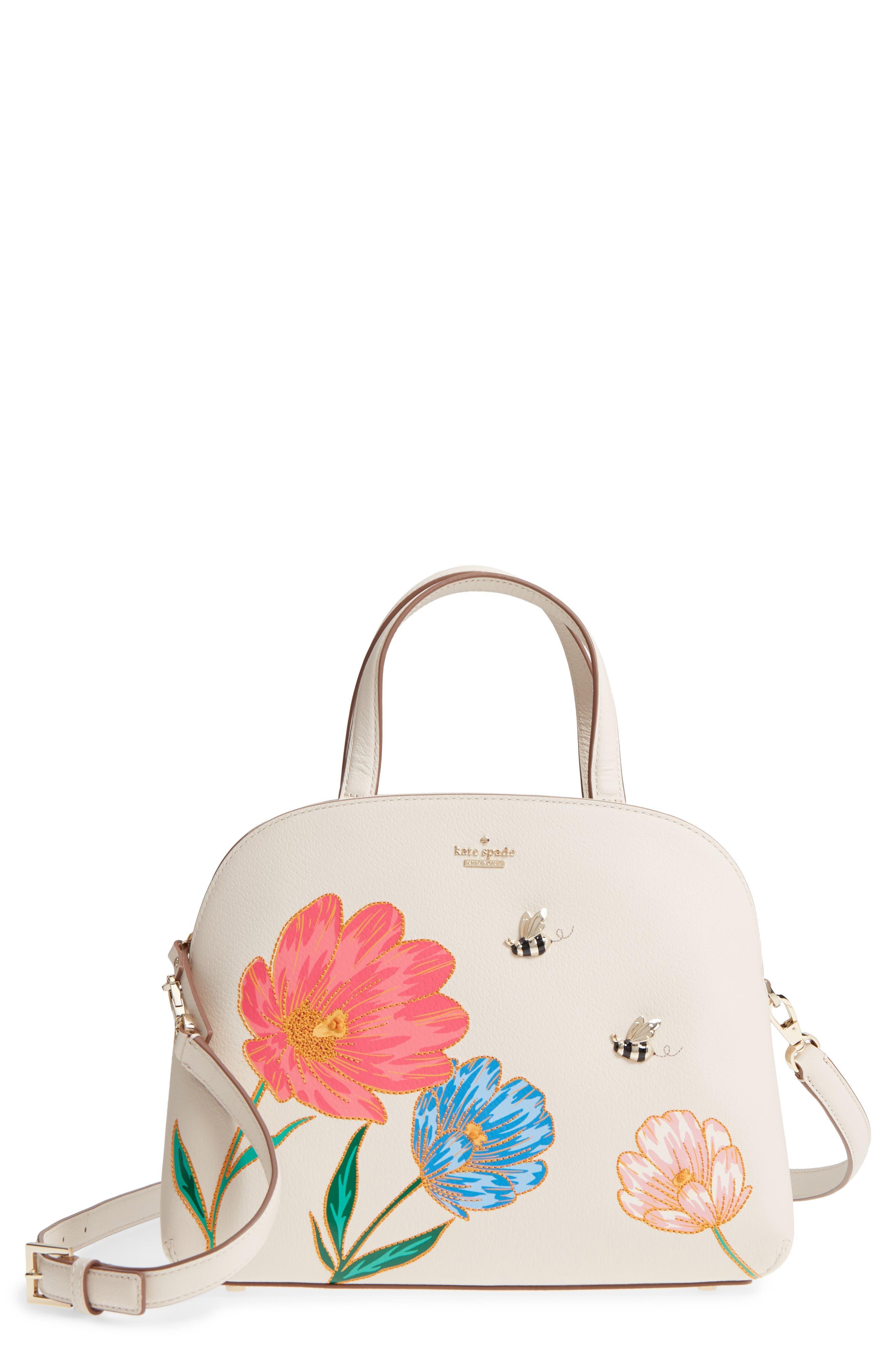 picnic perfect – lottie leather satchel,                             Main thumbnail 1, color,                             700