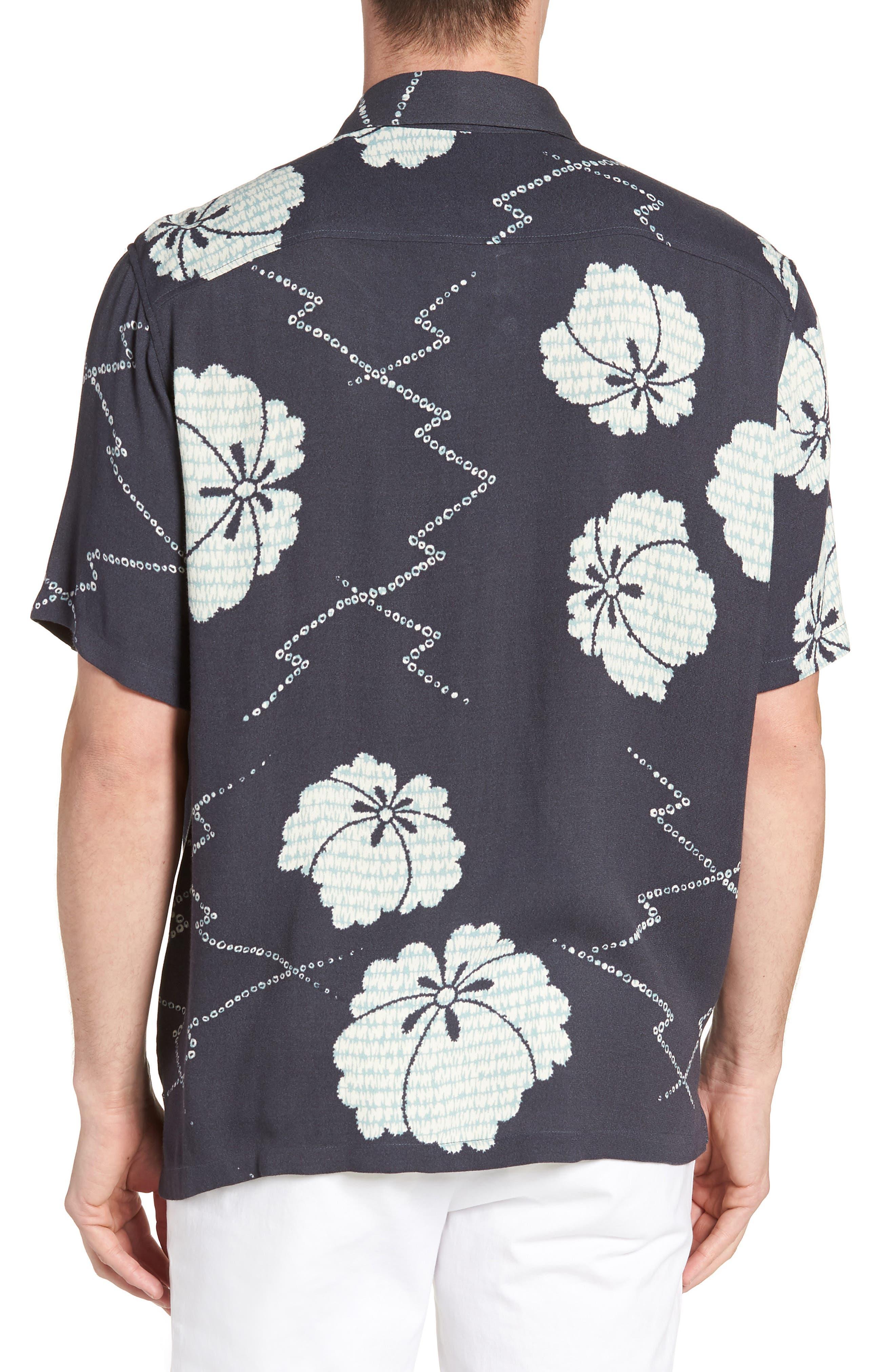 Oversize Safari Woven Shirt,                             Alternate thumbnail 2, color,                             HERON INDIA INK