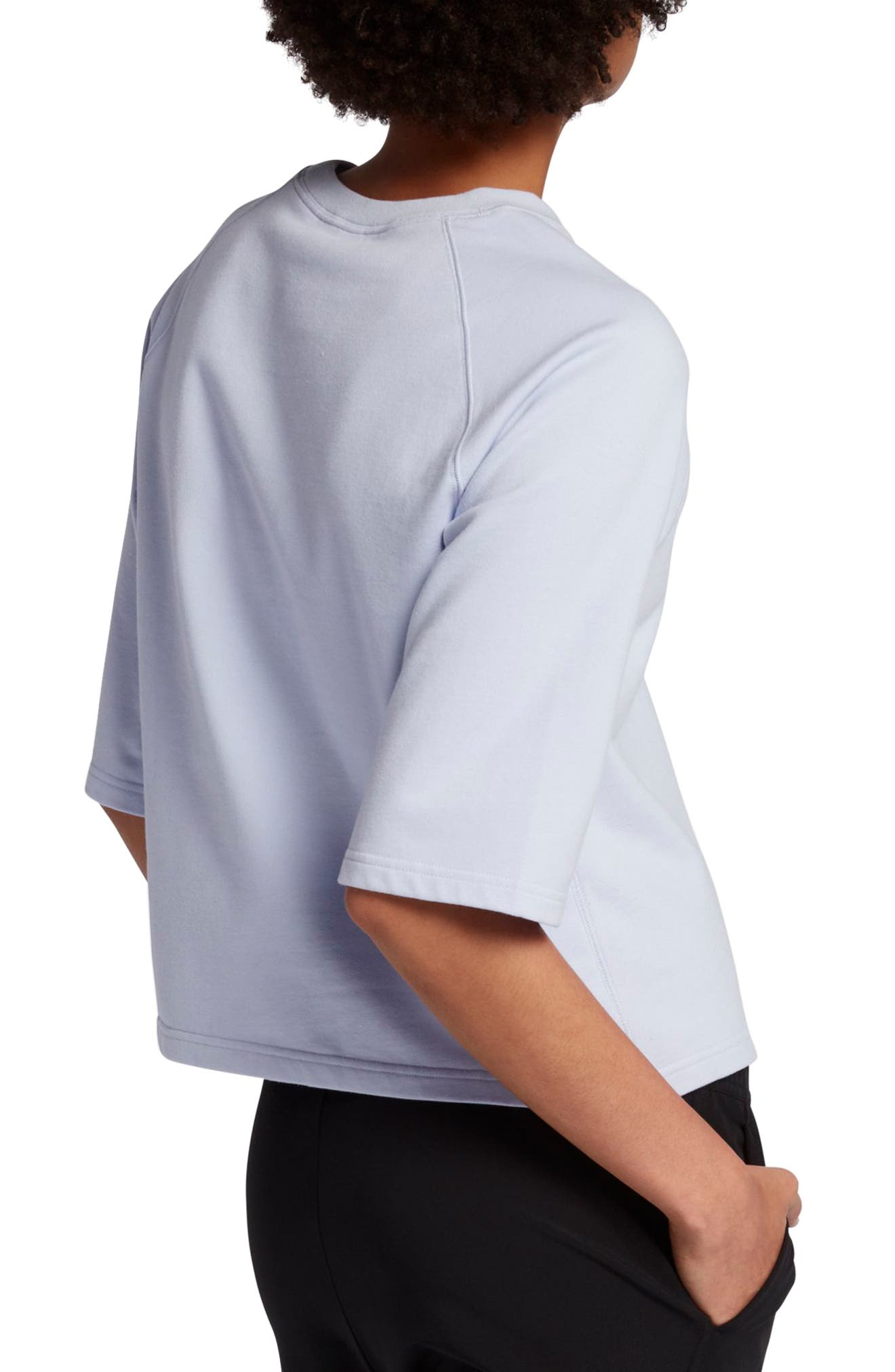 NikeLab Essential Fleece Top,                             Alternate thumbnail 8, color,