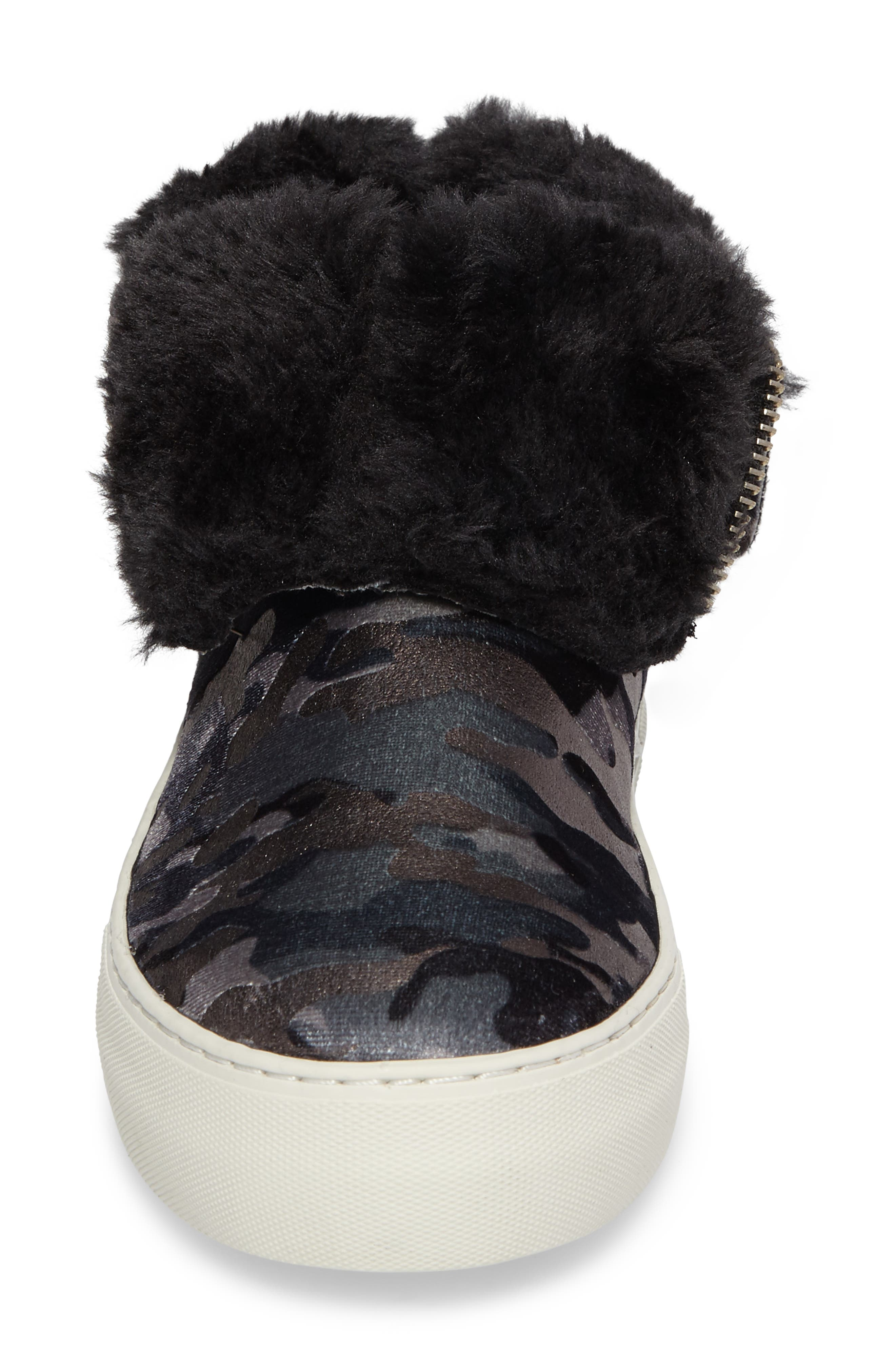 Allie Faux Fur Lined Platform Boot,                             Alternate thumbnail 5, color,                             020