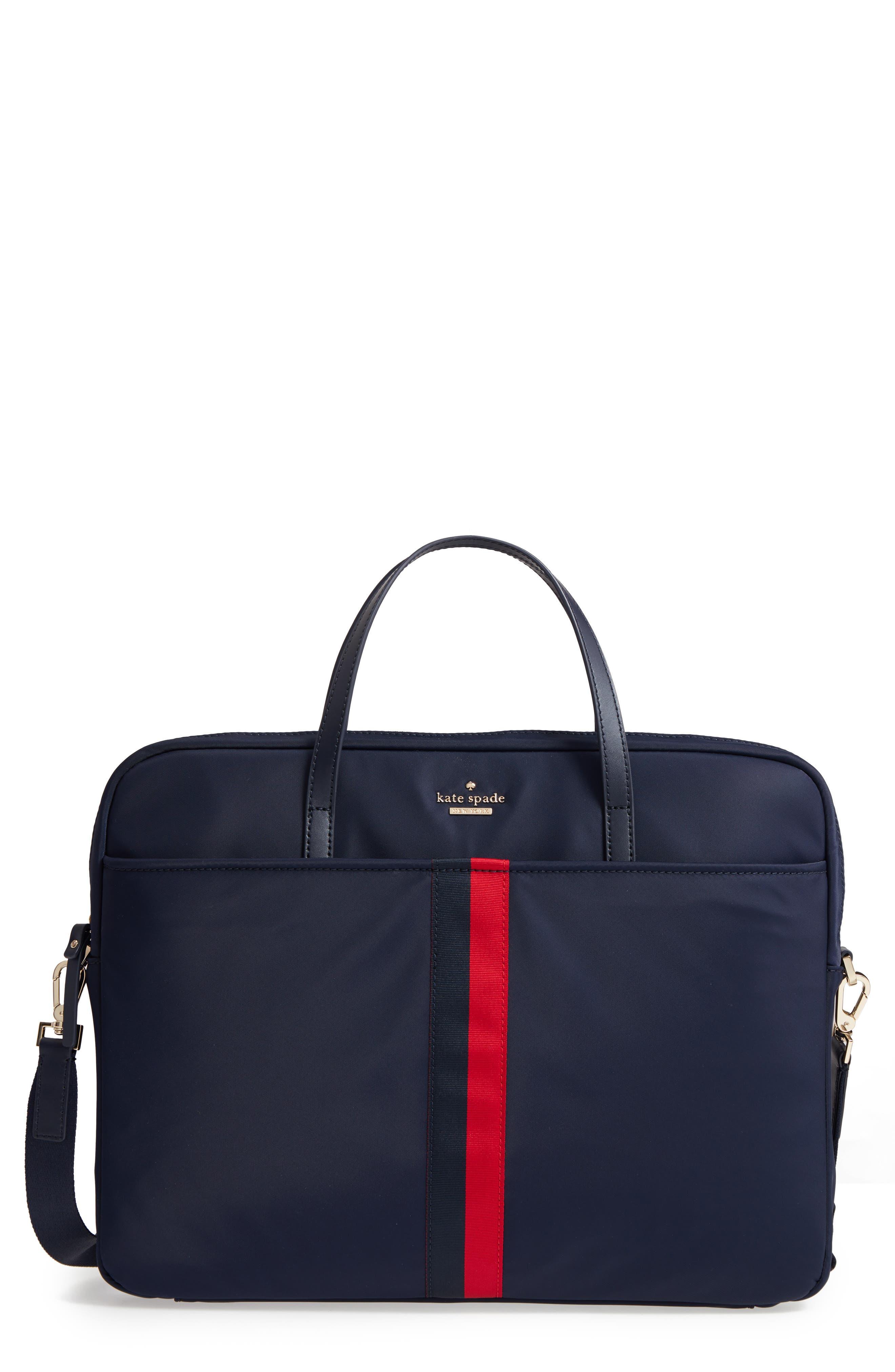 varsity stripe 15-inch laptop bag,                         Main,                         color, 493