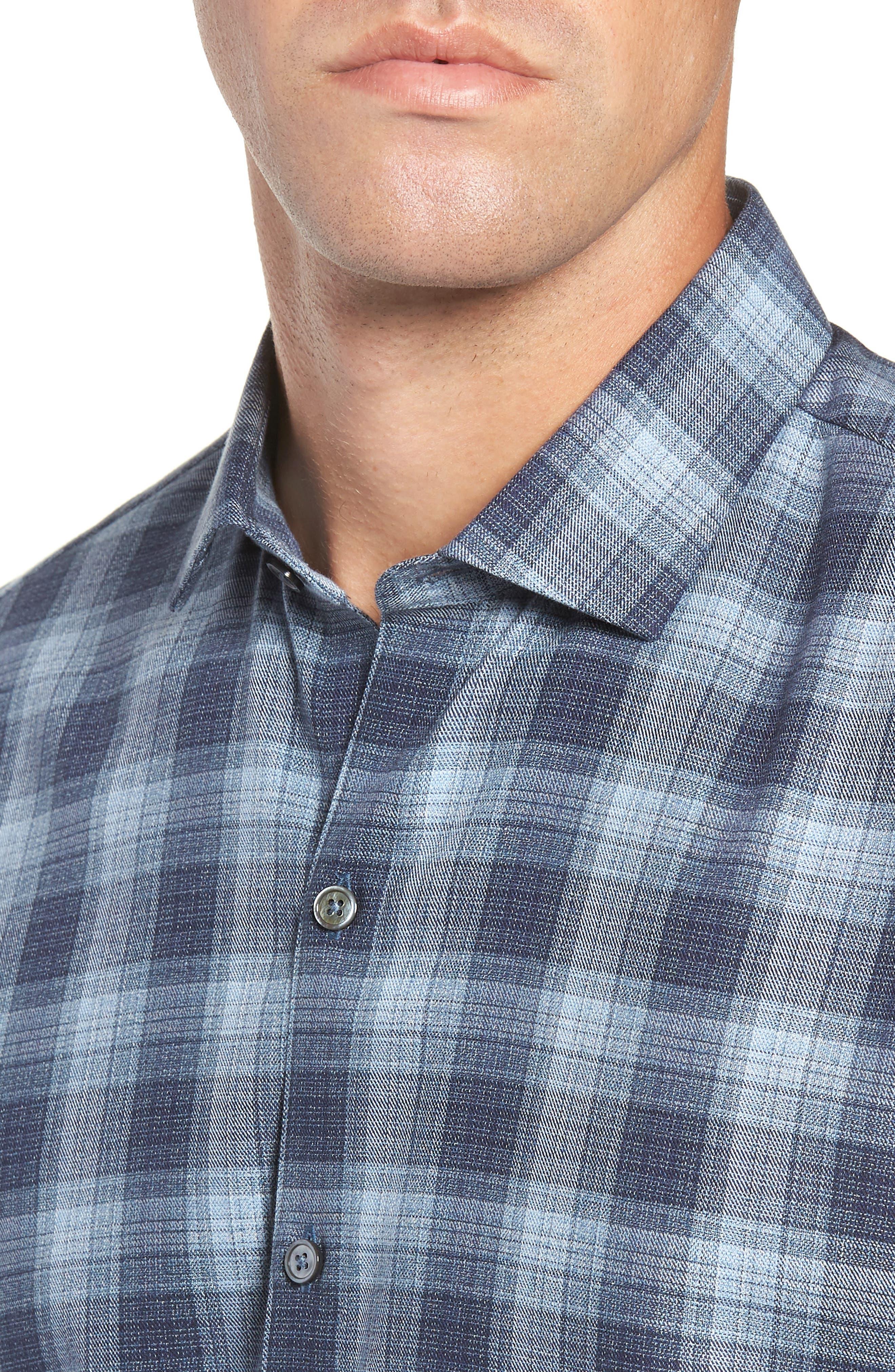 Oris Regular Fit Check Sport Shirt,                             Alternate thumbnail 2, color,                             BLUE