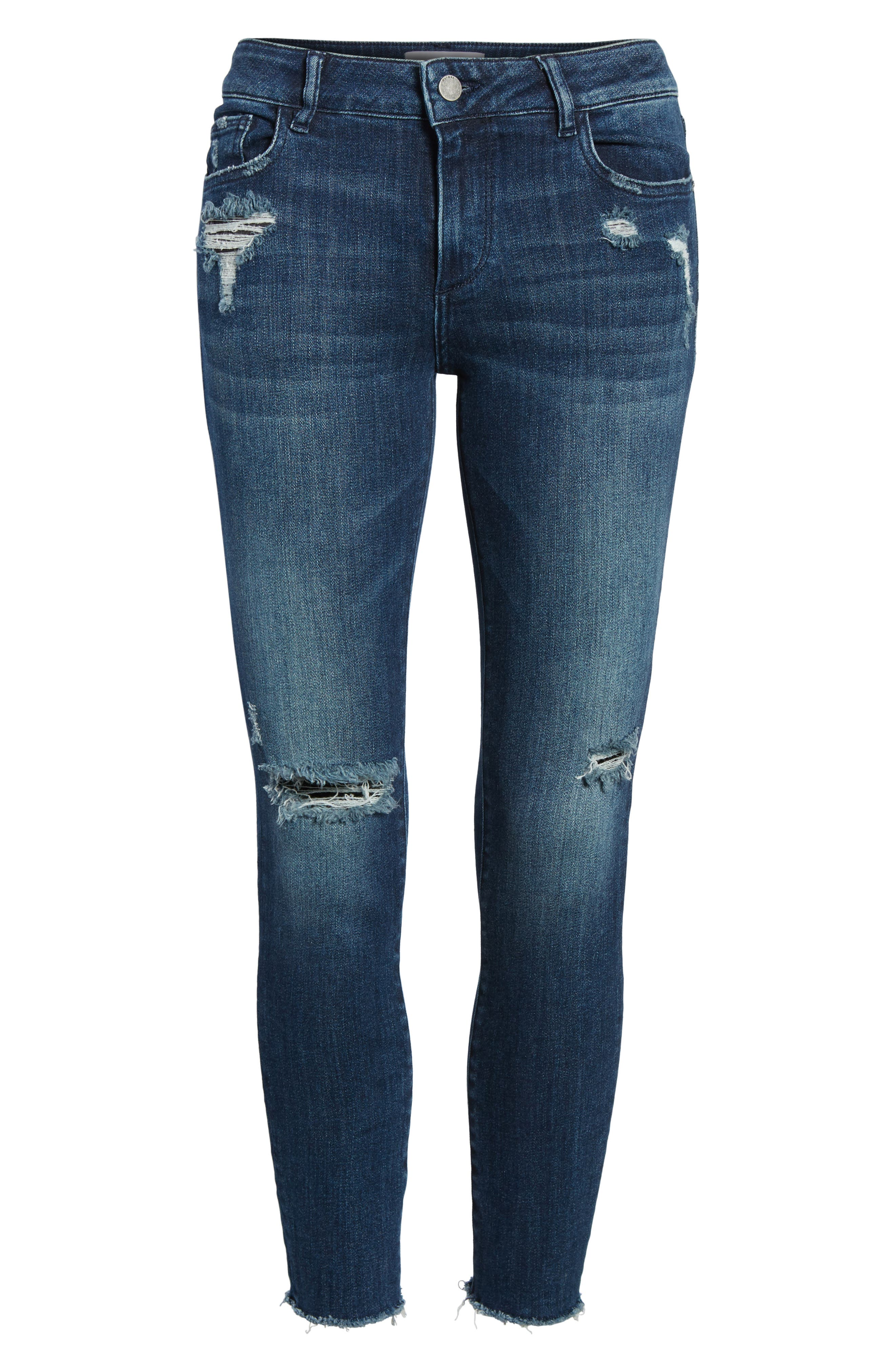 Florence Instasculpt Crop Skinny Jeans,                             Alternate thumbnail 7, color,                             425