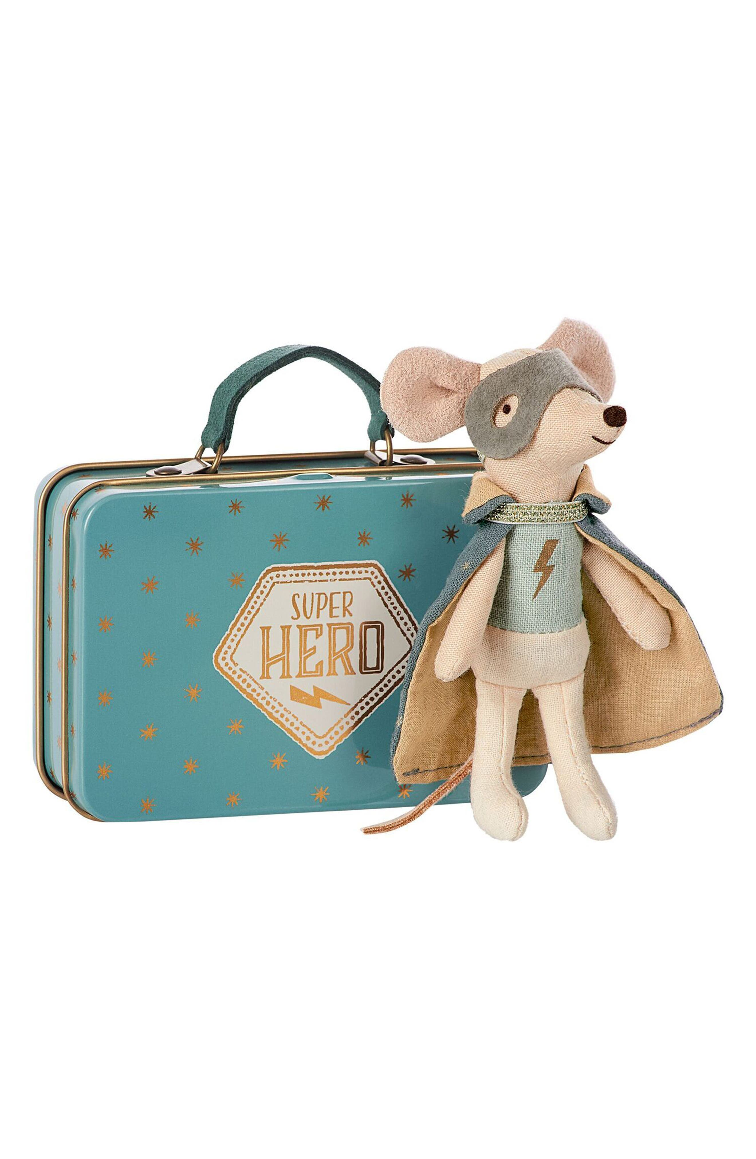 Super Hero Toy Mouse in a Suitcase,                         Main,                         color,