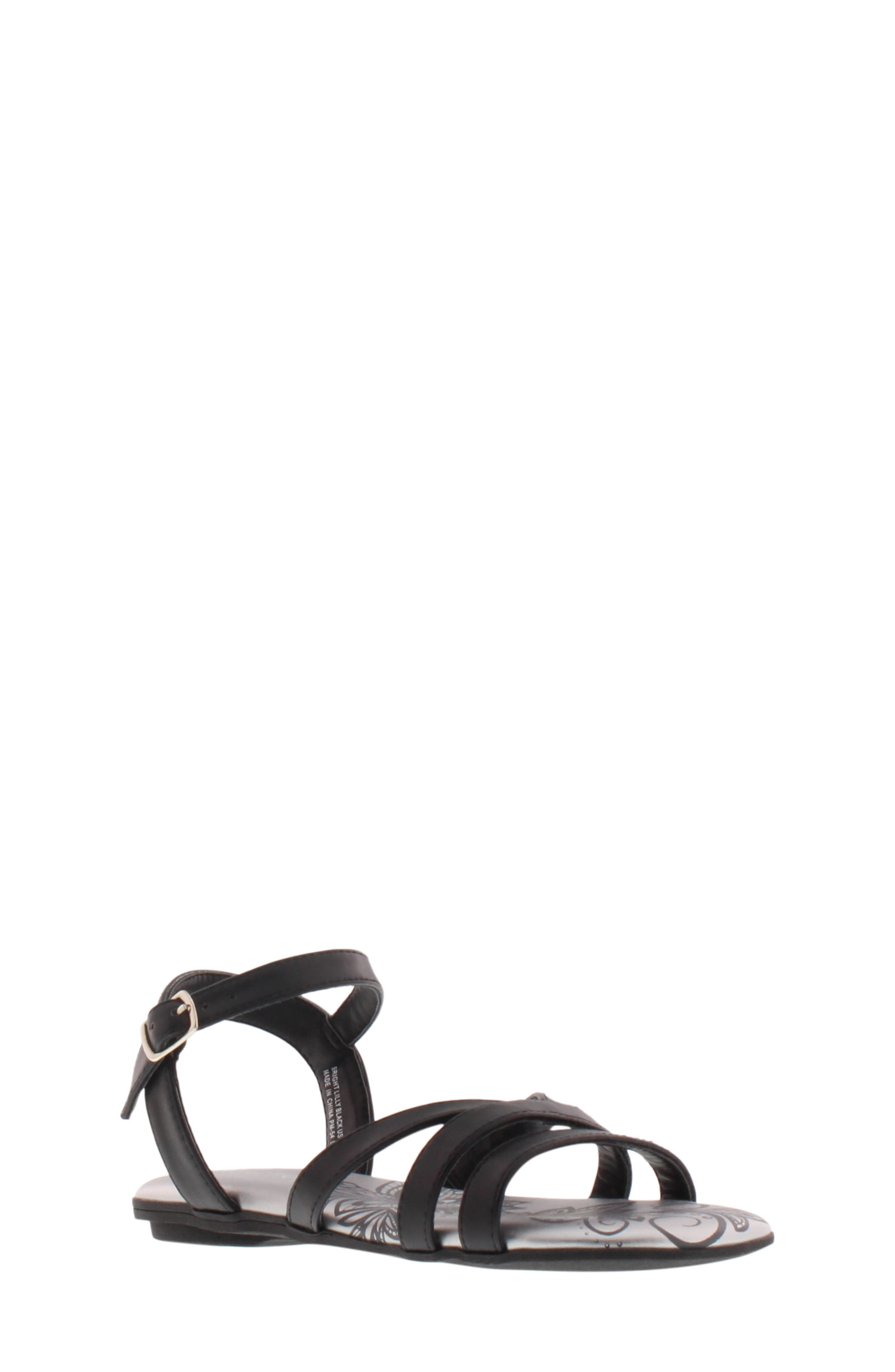 REACTION KENNETH COLE,                             Bright Lilly Strappy Sandal,                             Alternate thumbnail 9, color,                             BLACK