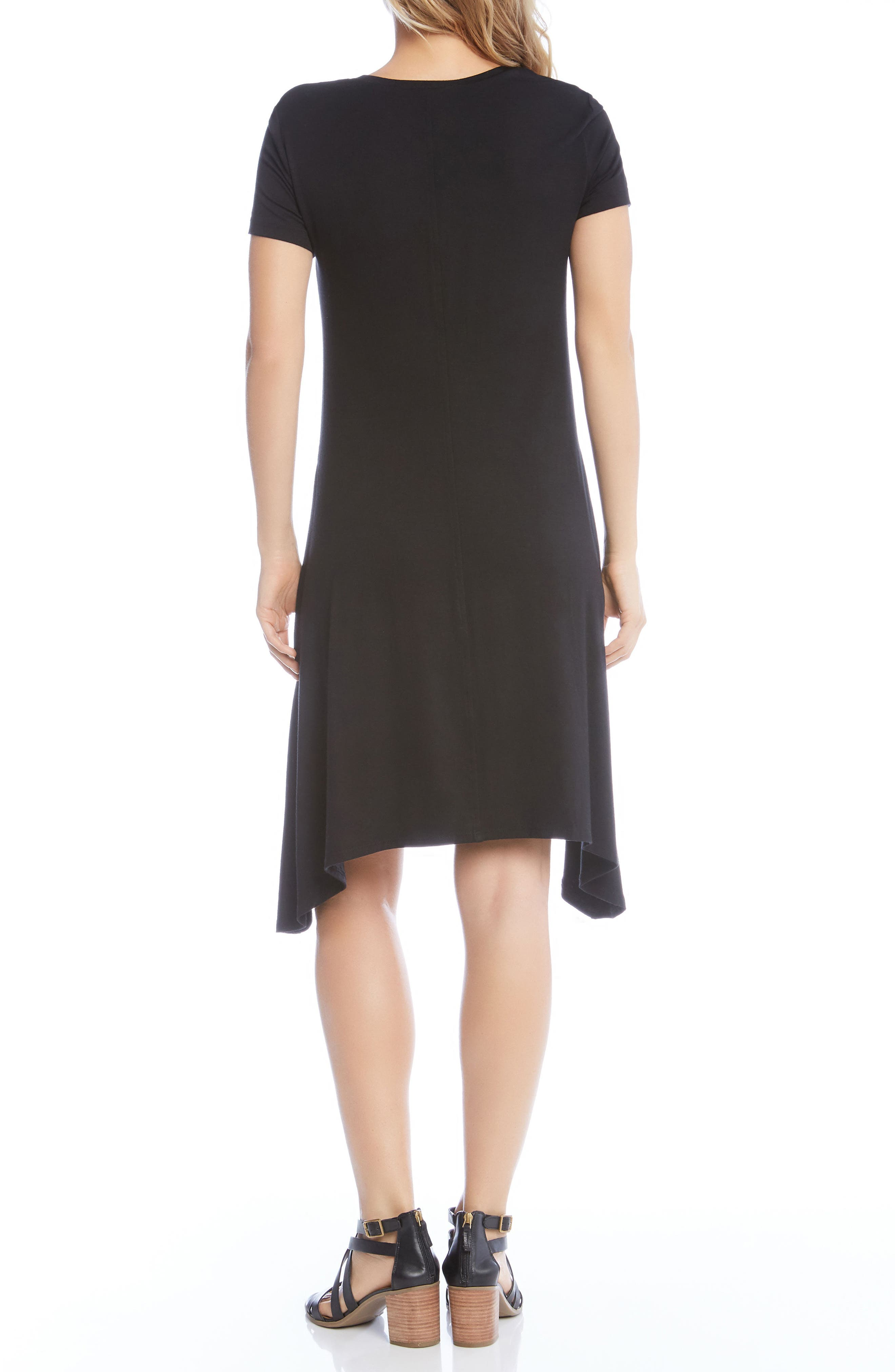 Hailey High/Low Dress,                             Alternate thumbnail 2, color,                             BLACK