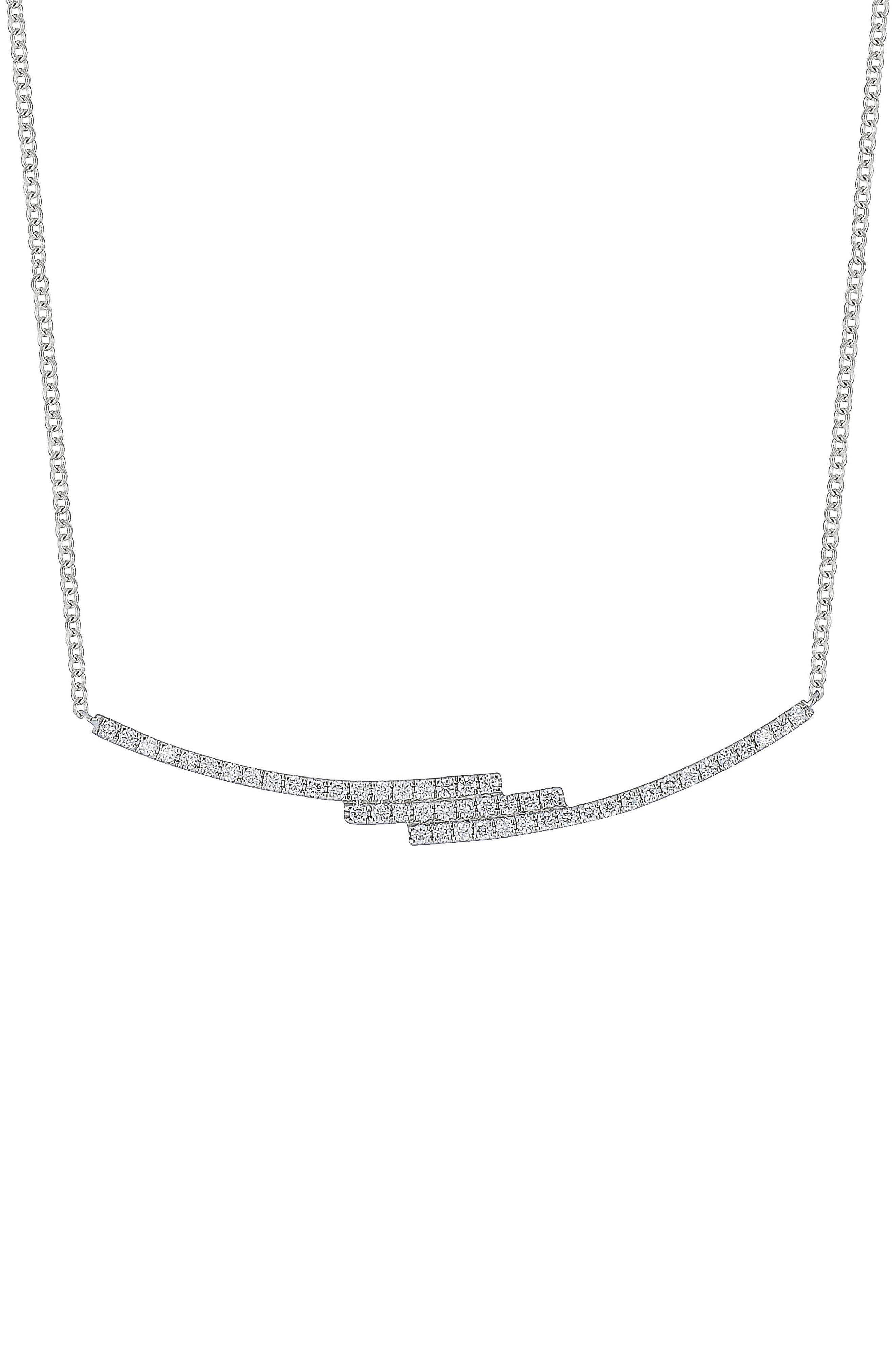 Diamond Zigzag Pendant Necklace,                         Main,                         color,