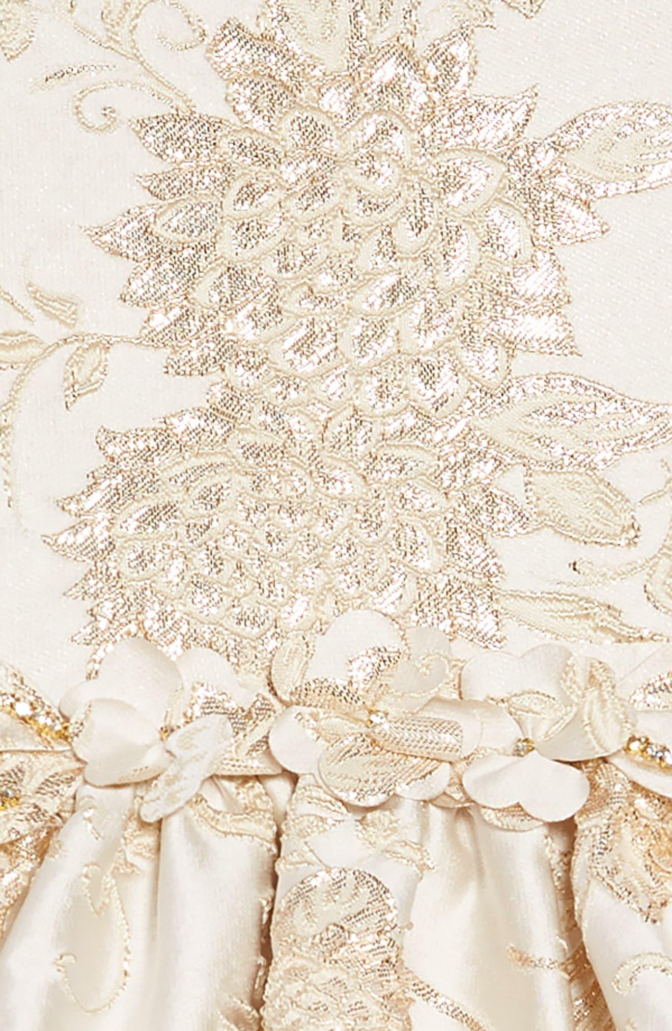 Brocade Dress,                             Alternate thumbnail 3, color,                             101