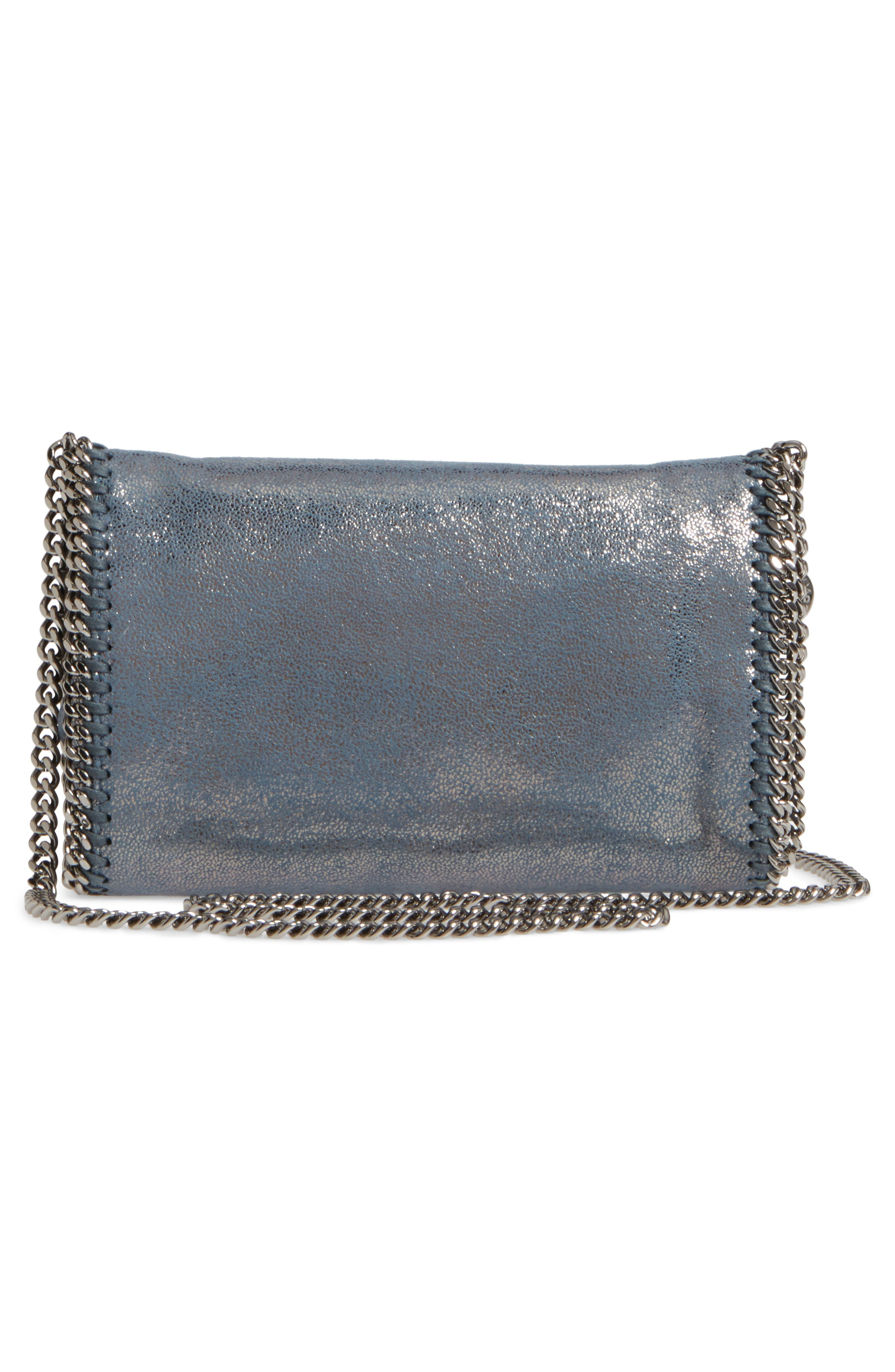 Falabella Shaggy Deer Faux Leather Clutch,                             Alternate thumbnail 3, color,                             400